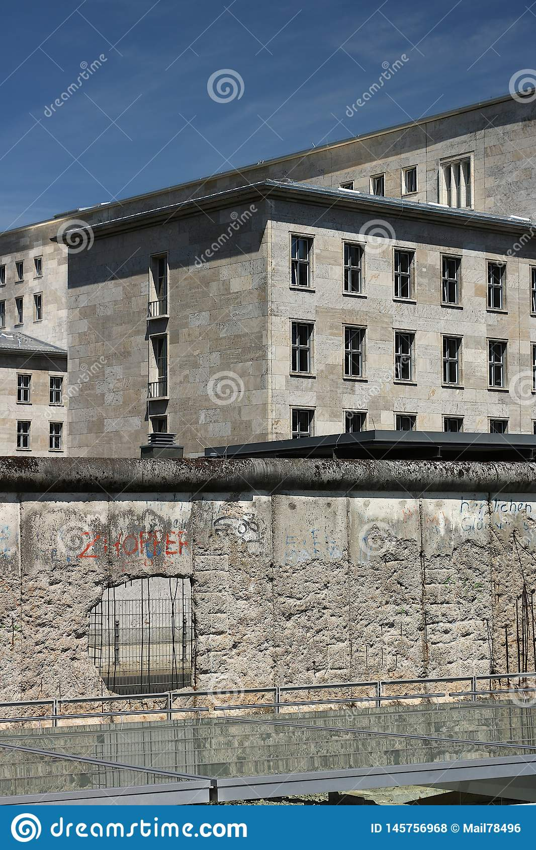 The Berlin Wall With The Background Of Old Buildings In West Berlin Stock Photo Image Of Outdoor East 145756968