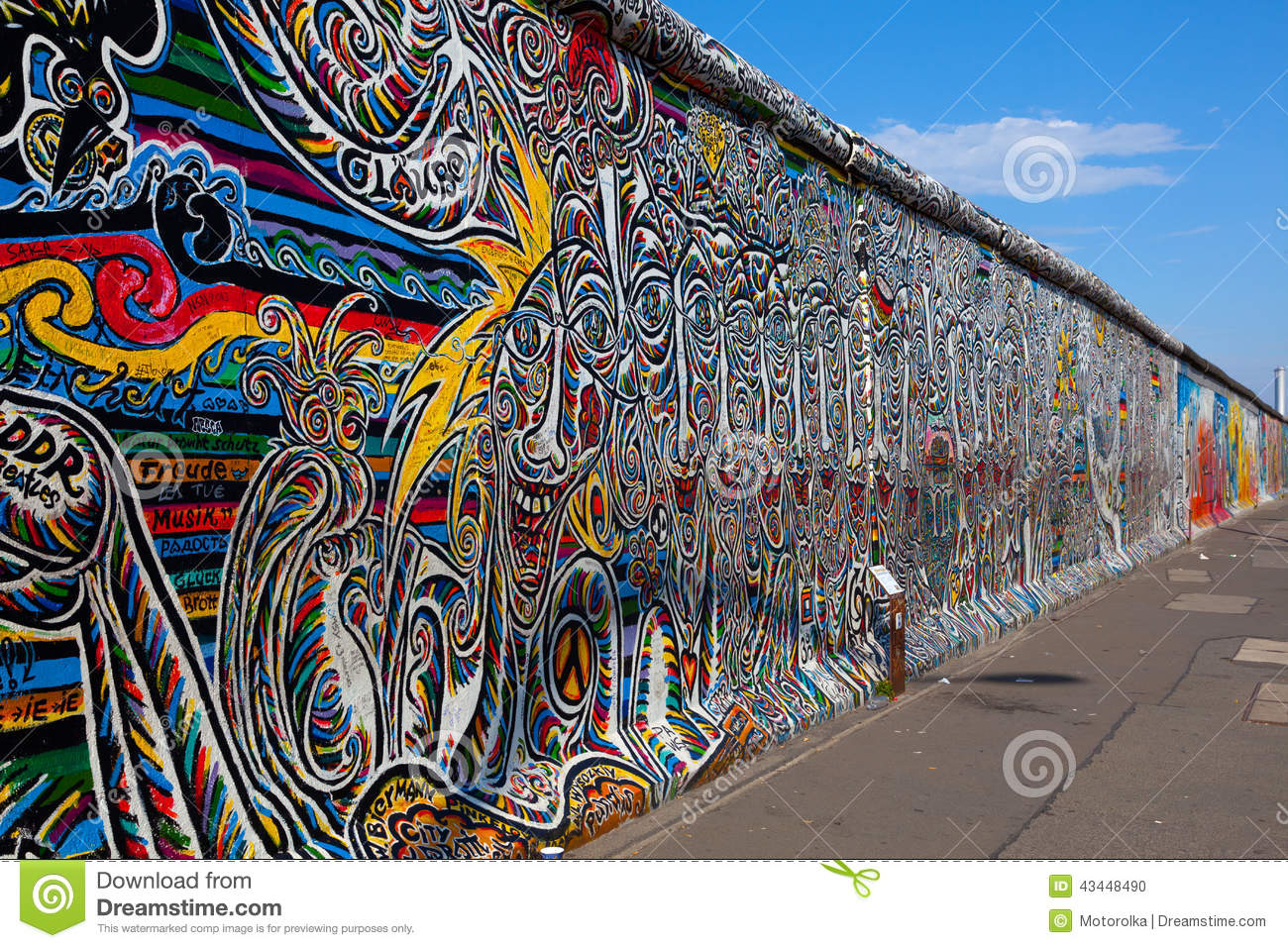 berlin wall berlin germany editorial image image of culture curtain 43448490. Black Bedroom Furniture Sets. Home Design Ideas