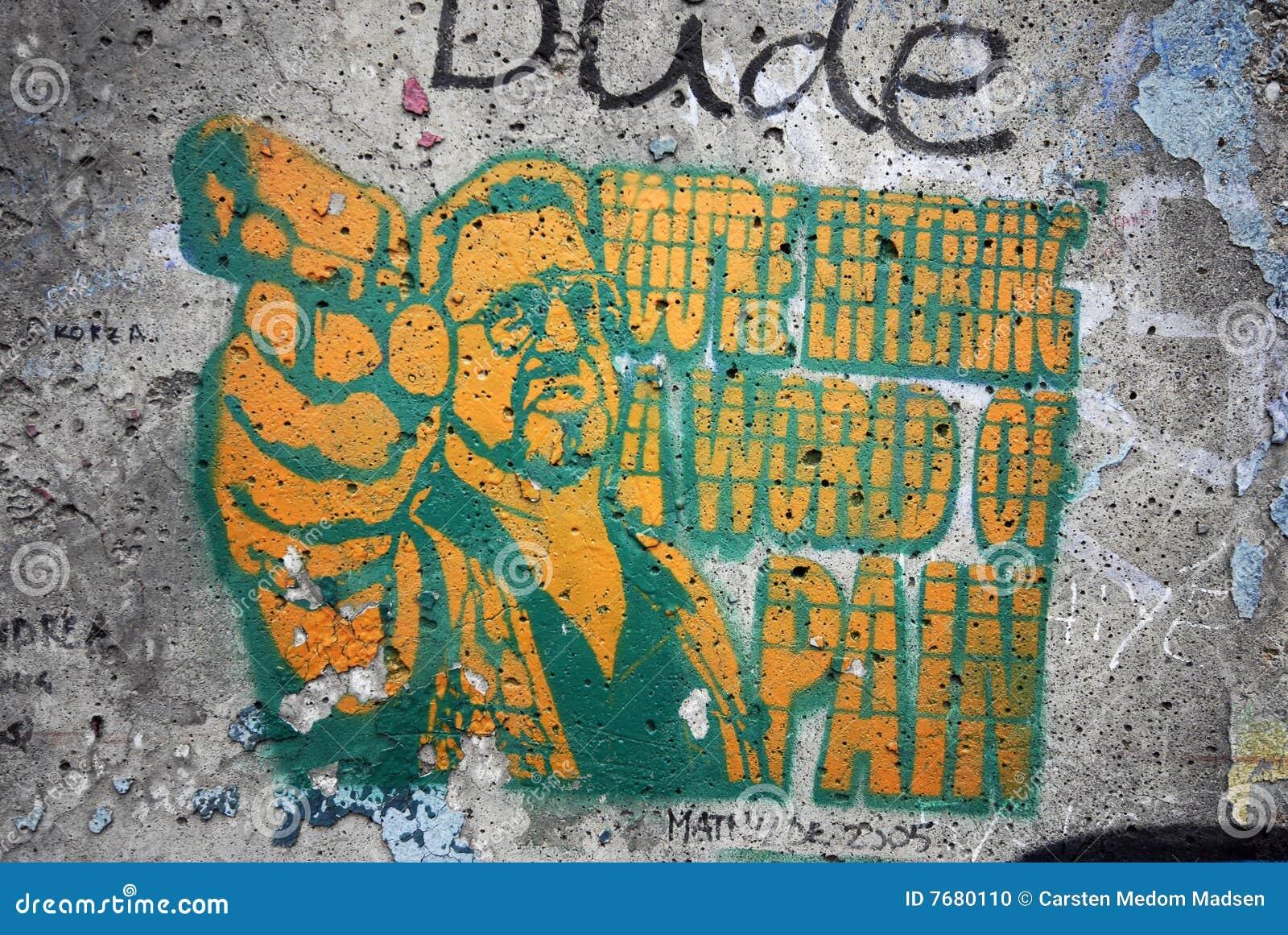 Grafiti wall berlin - Berlin Wall Graffiti Stock Photo