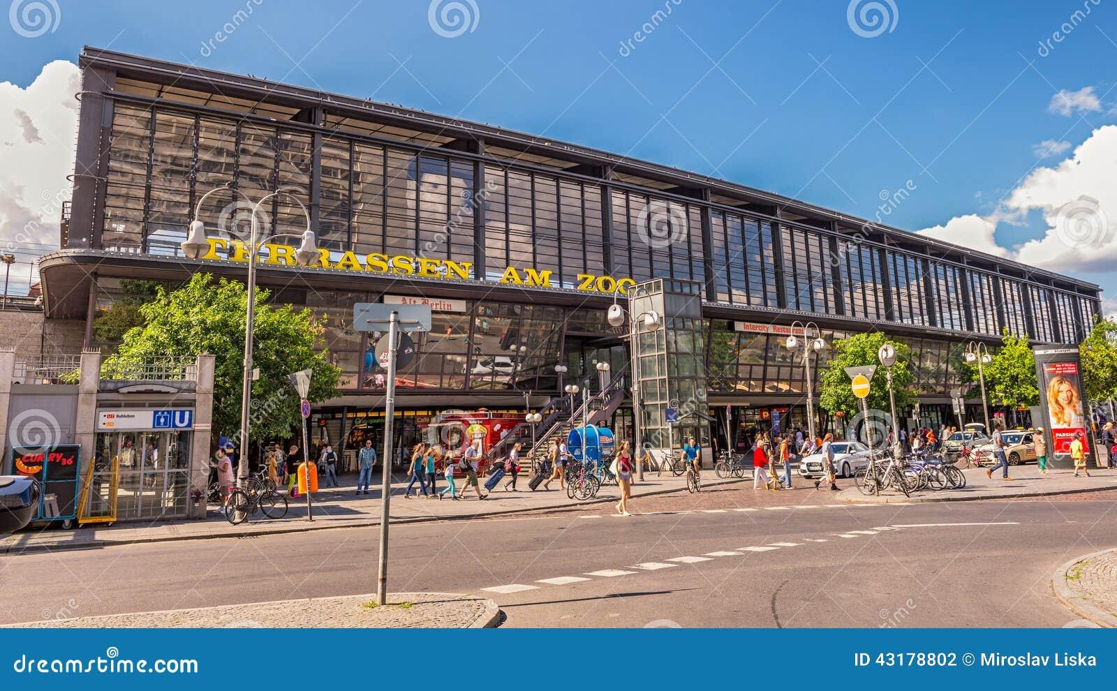 Berlin Zoologischer Garten Railway Station Editorial Photography