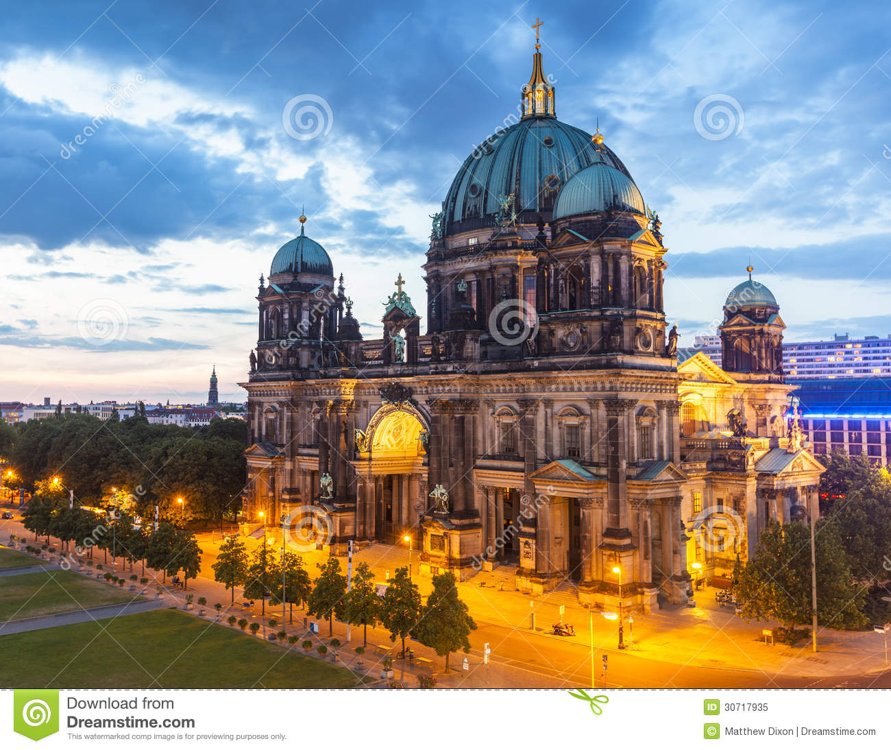 berliner dom berlin cathedral germany stock image image of building monuments 30717935. Black Bedroom Furniture Sets. Home Design Ideas