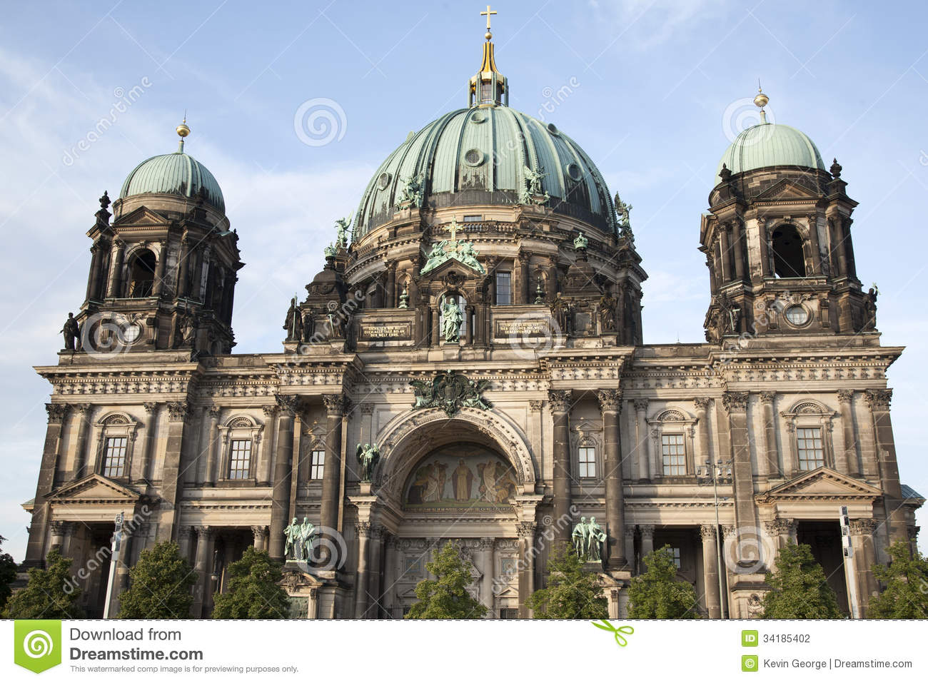 berliner dom cathedral church dome berlin stock photo image 34185402. Black Bedroom Furniture Sets. Home Design Ideas