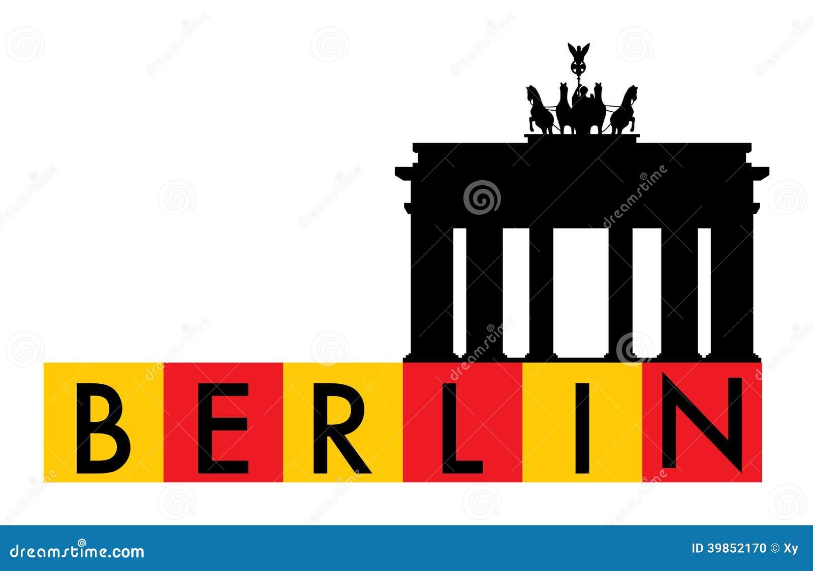 Berlin and brandenburg gate design stock vector image for Design berlin