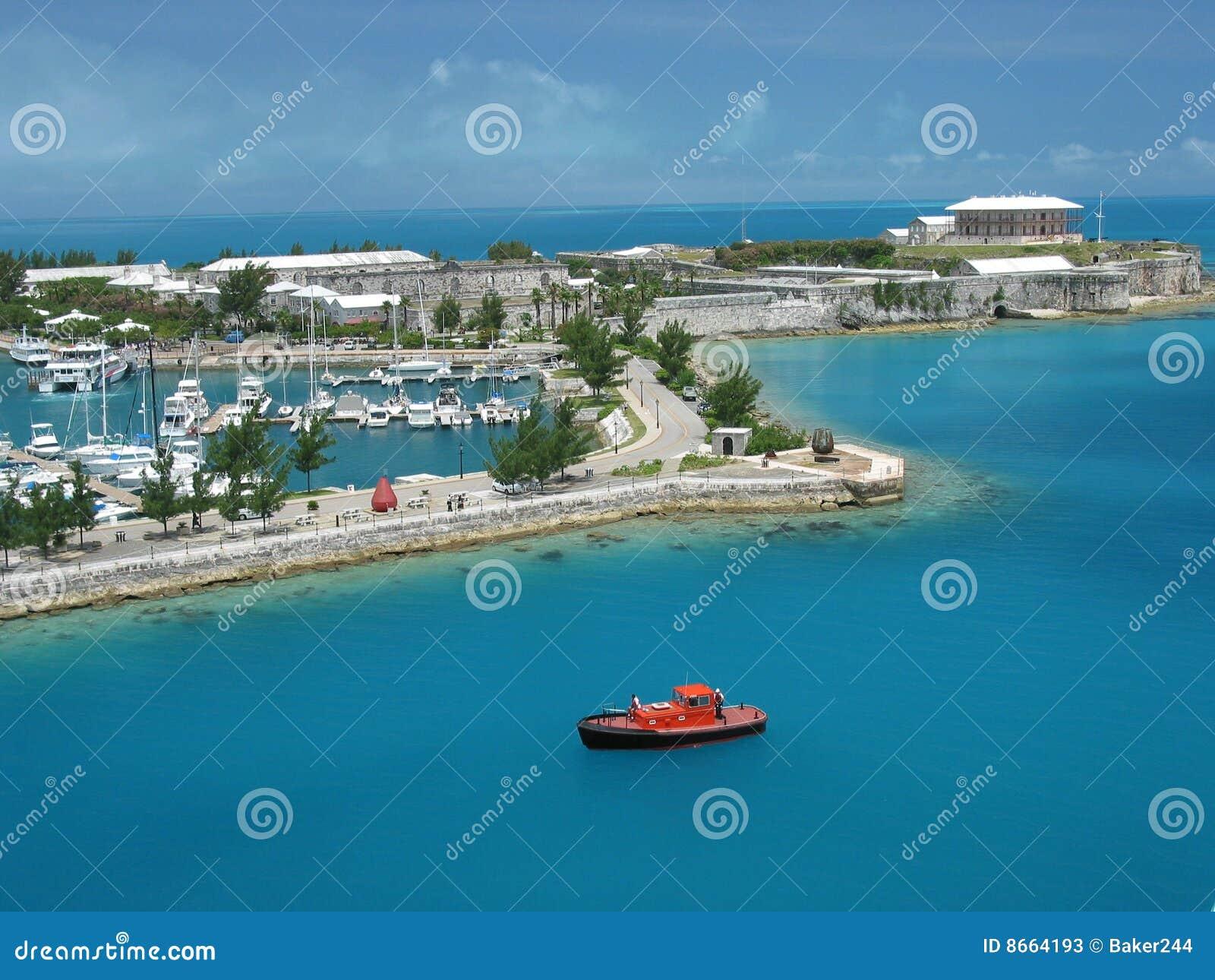 Bermuda görar till kung hamnplatsen