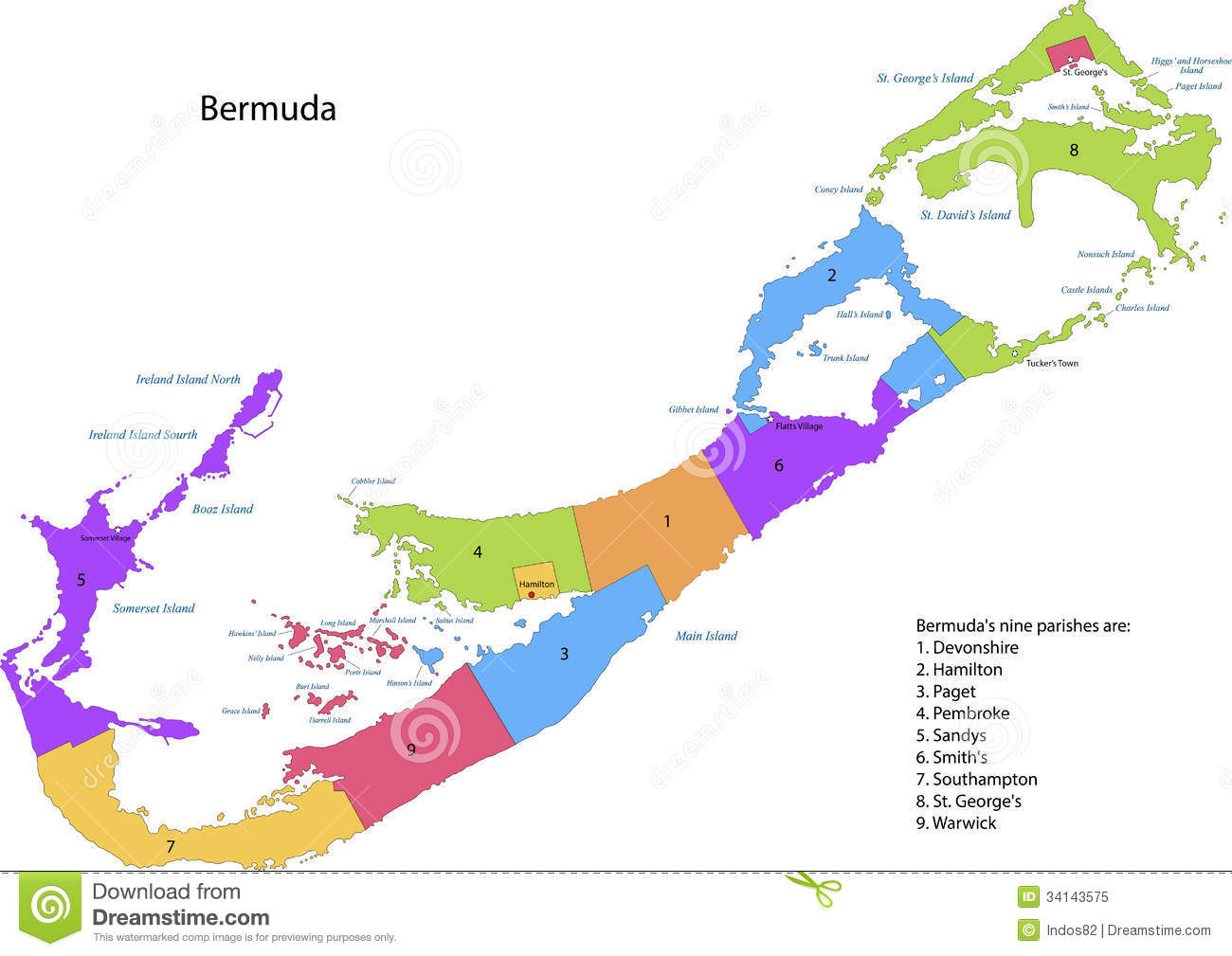 Bermuda Map Royalty Free Stock Photo Image - Bermuda islands map