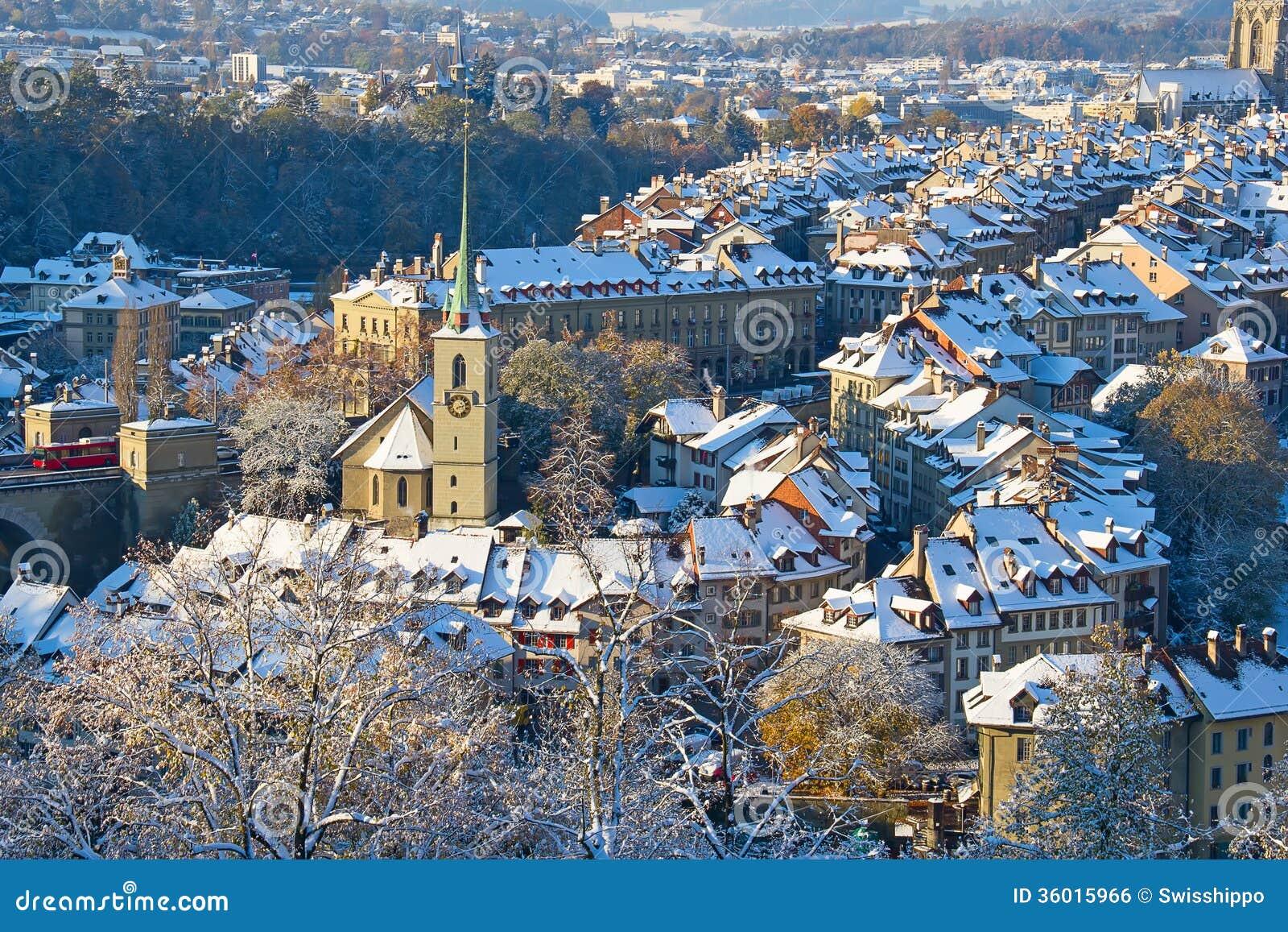 Bern In Winter Royalty Free Stock Image Image 36015966