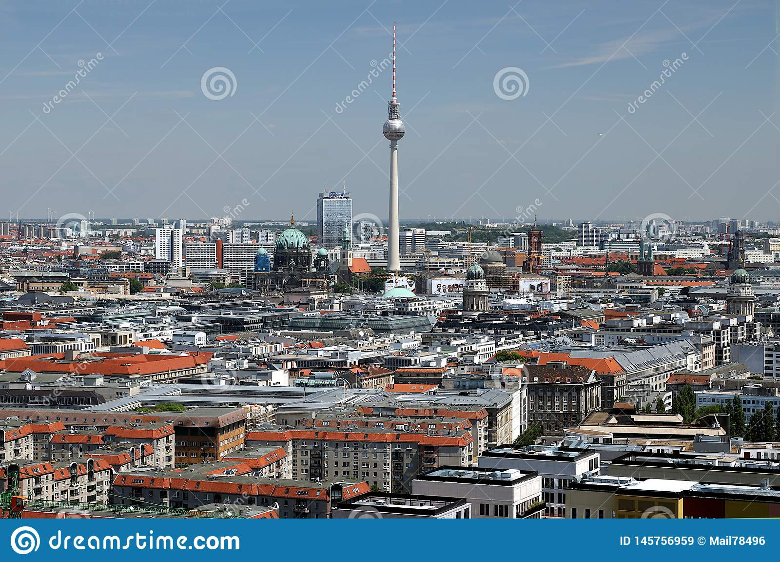 Berna 06/14/2018 Πανοραμική άποψη από την κορυφή ενός πύργου Potsdamer Platz