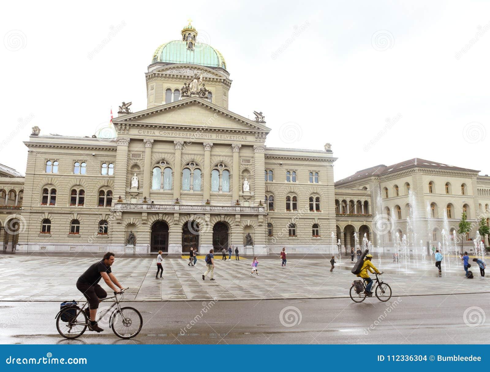 Berne, Suisse - 3 juin 2017 : Bu suisses de bâtiment du Parlement