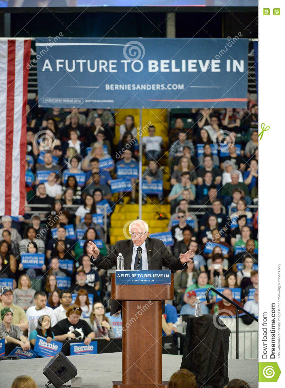 Bernie Sanders rally in Saint Charles, Missouri