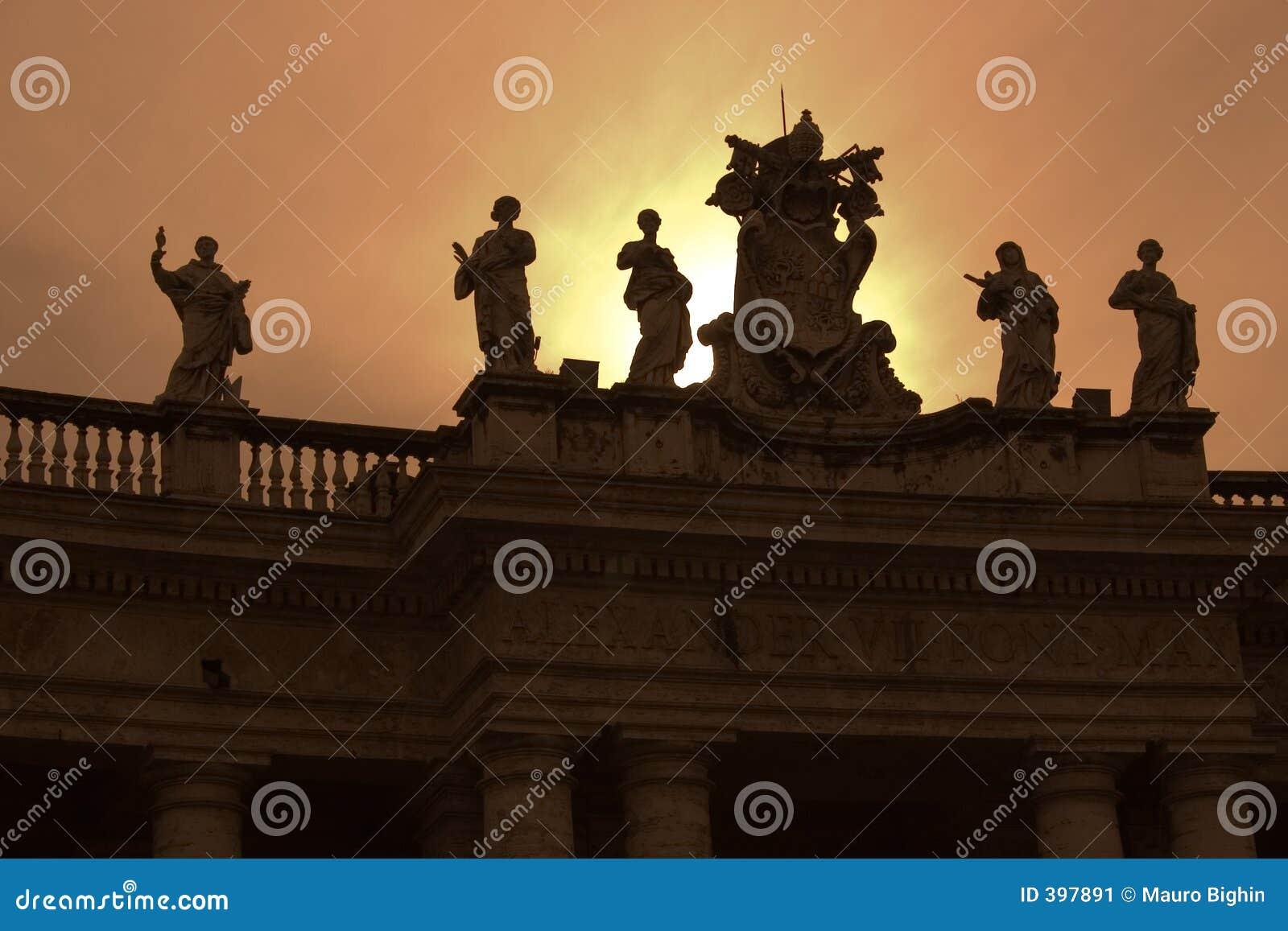 Bernini kolumny Rzymu s Watykanu