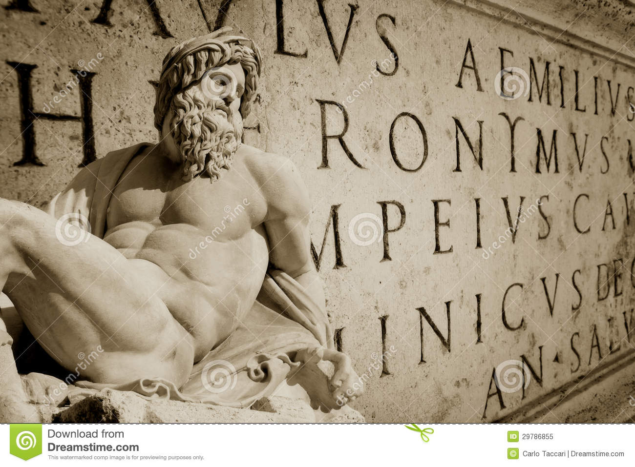 Roman Wallpaper Stock Image Of Engraving Horizontal