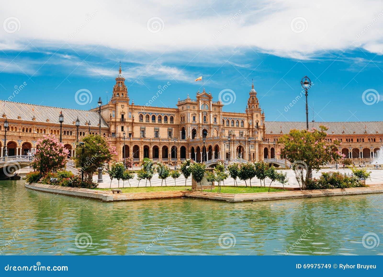 Beroemd oriëntatiepunt - Plaza DE Espana in Sevilla, Andalusia, Spanje