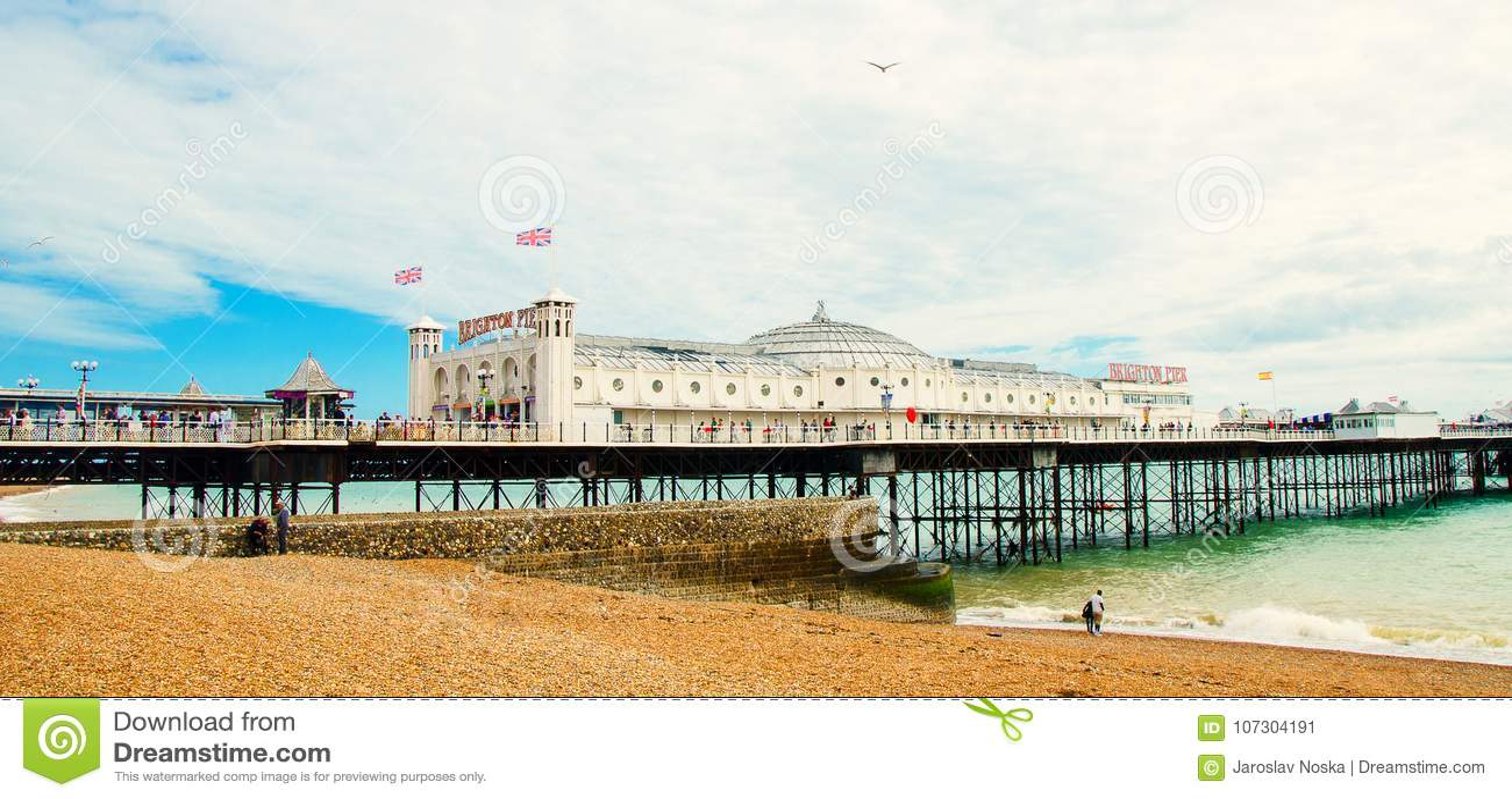 Beroemde pijler in Engels Brighton