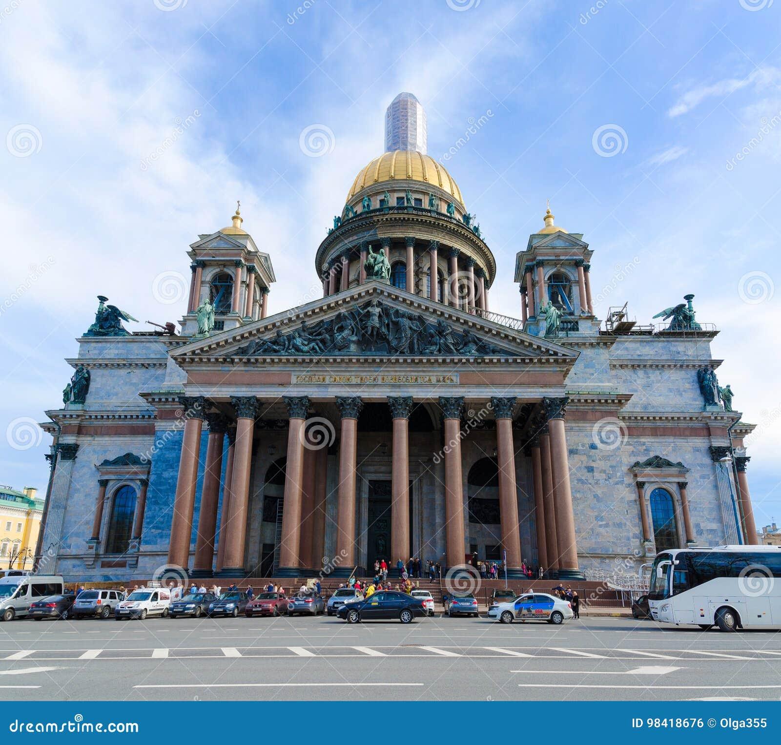 Beroemde St Isaac ` s Kathedraal, St. Petersburg, Rusland