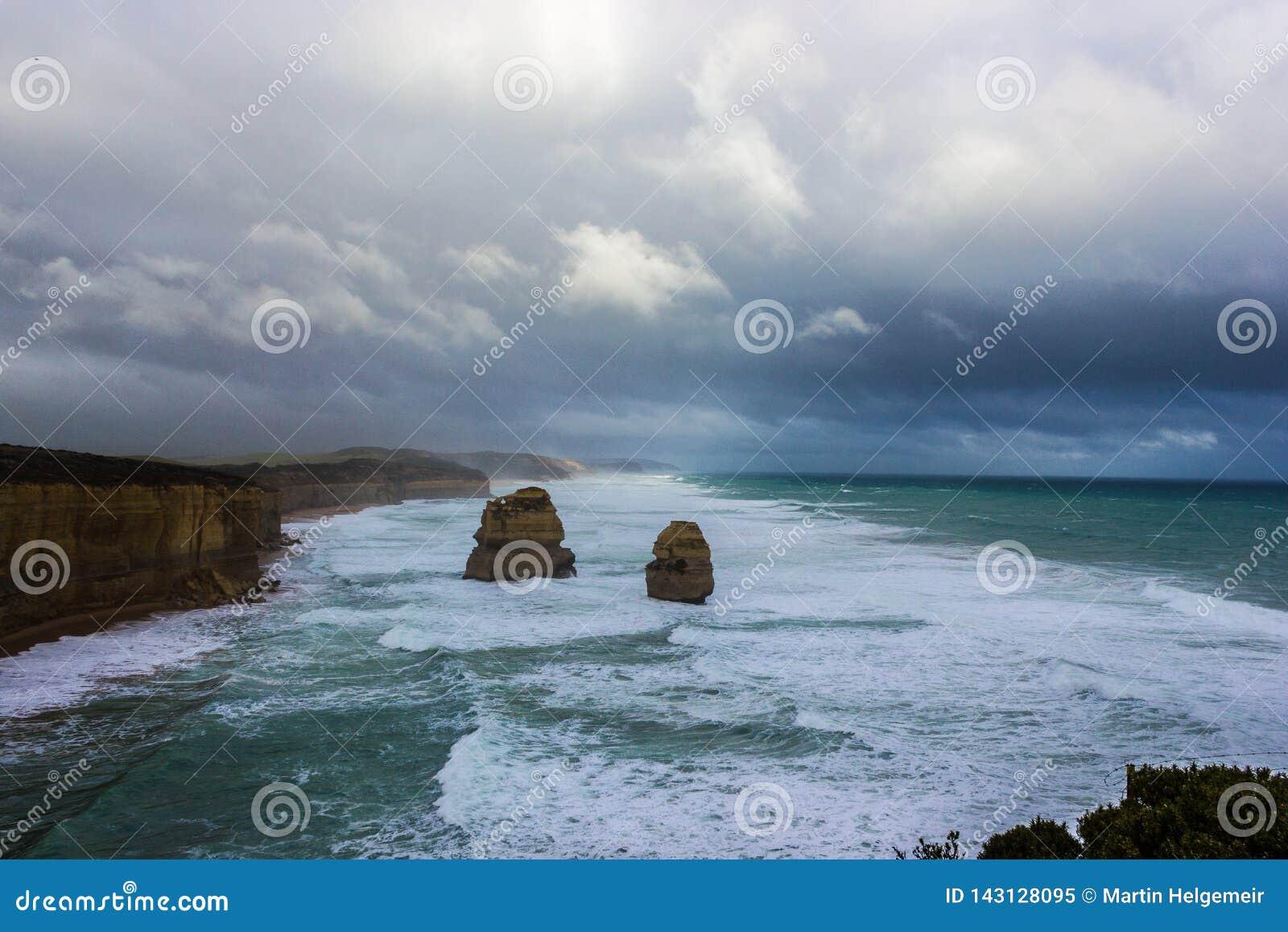 Beroemde 2 van 12 Apostel, Victoria, de Twaalf Apostelen, Grote Oceaanweg, Victoria