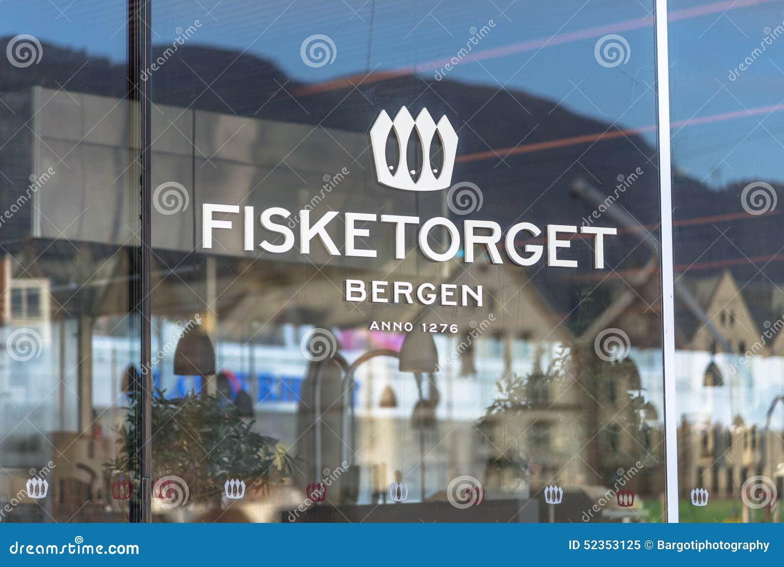Beroemde Vissenmarkt in Bergen