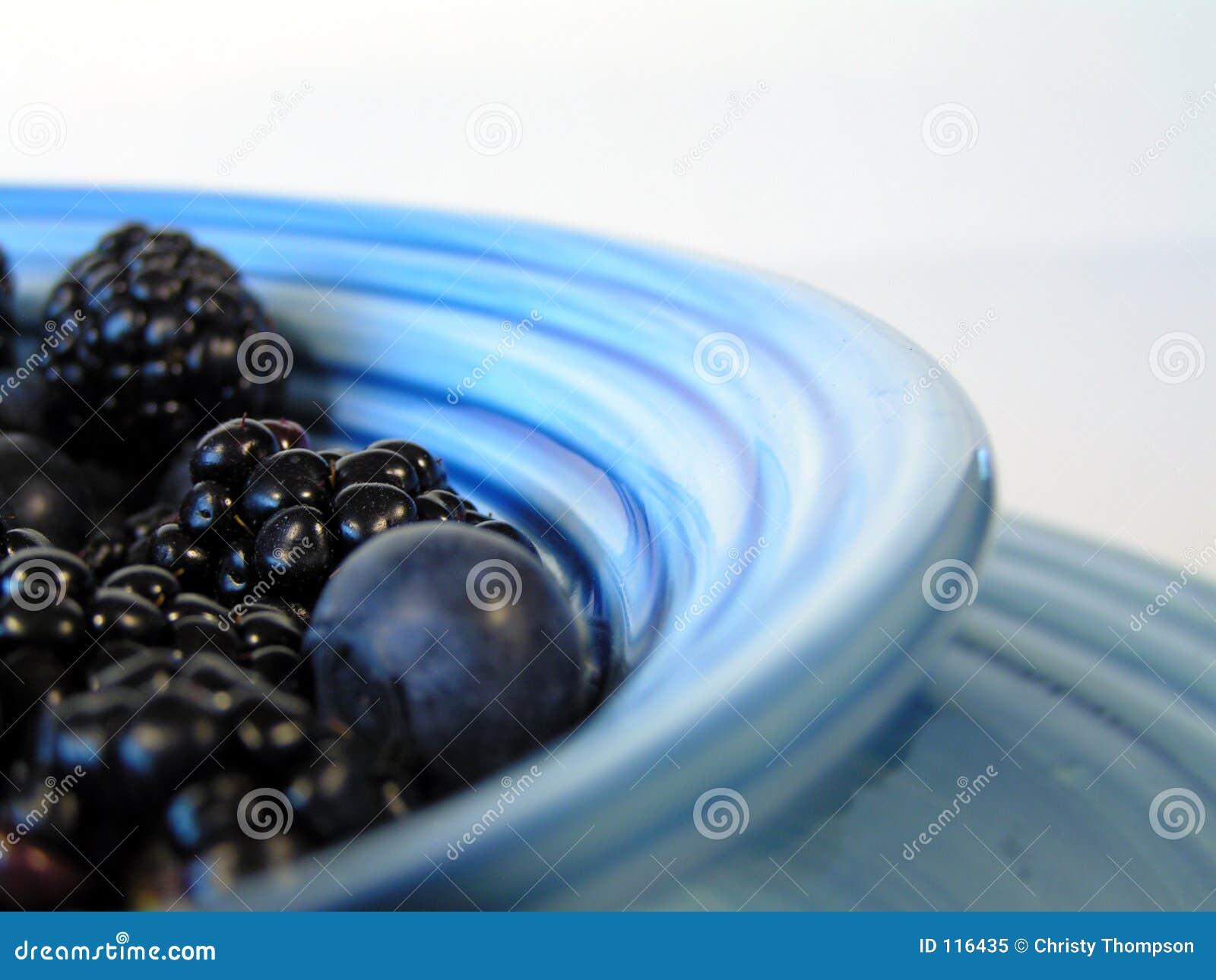 Berries in blue bowl