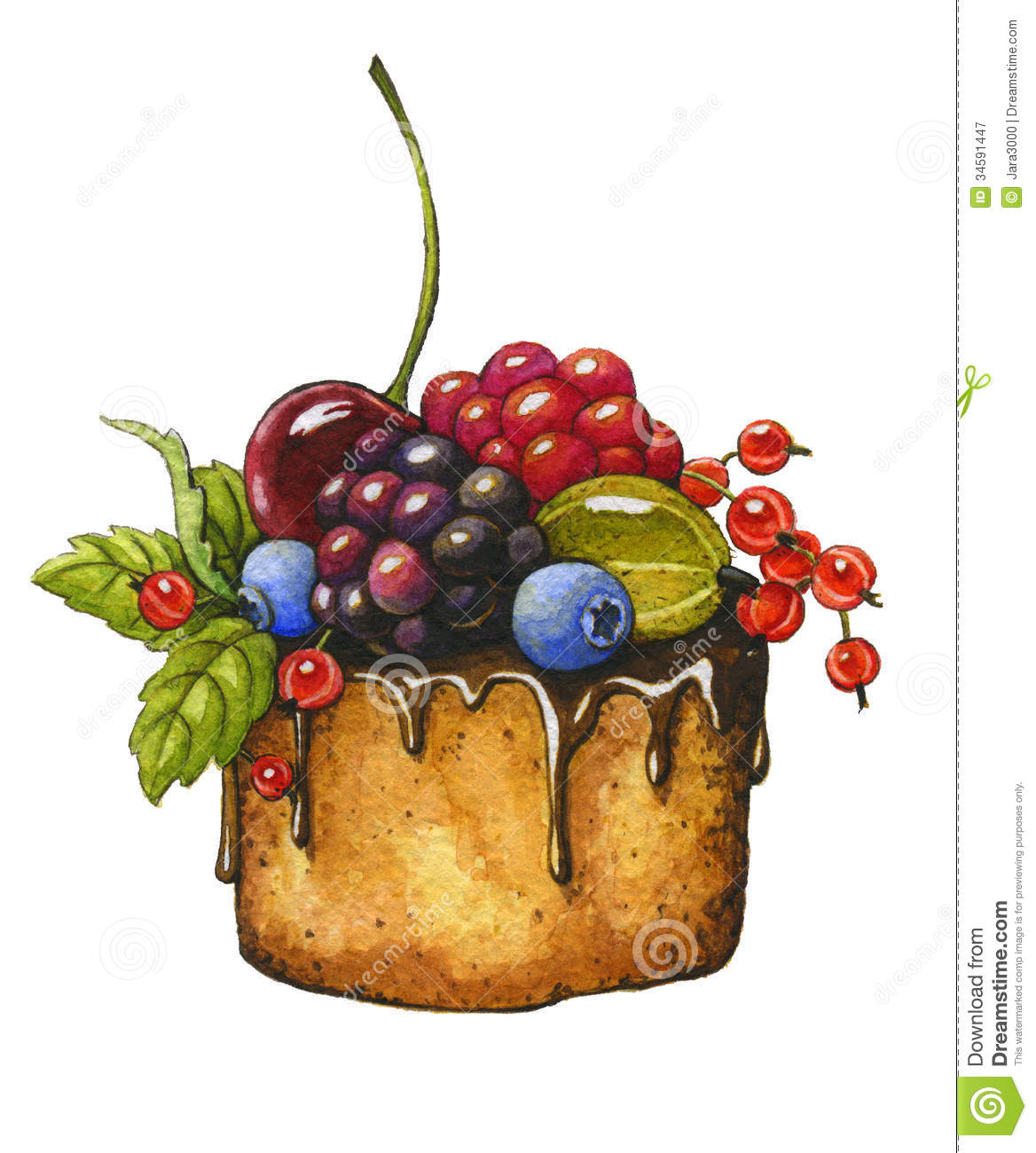 Berry Cake Royalty Free Stock Photography Image 34591447
