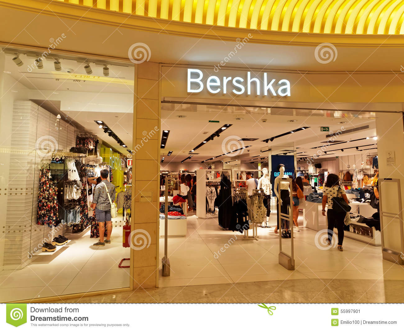 bershka store in rome italy with people shopping editorial photo image 55997901. Black Bedroom Furniture Sets. Home Design Ideas