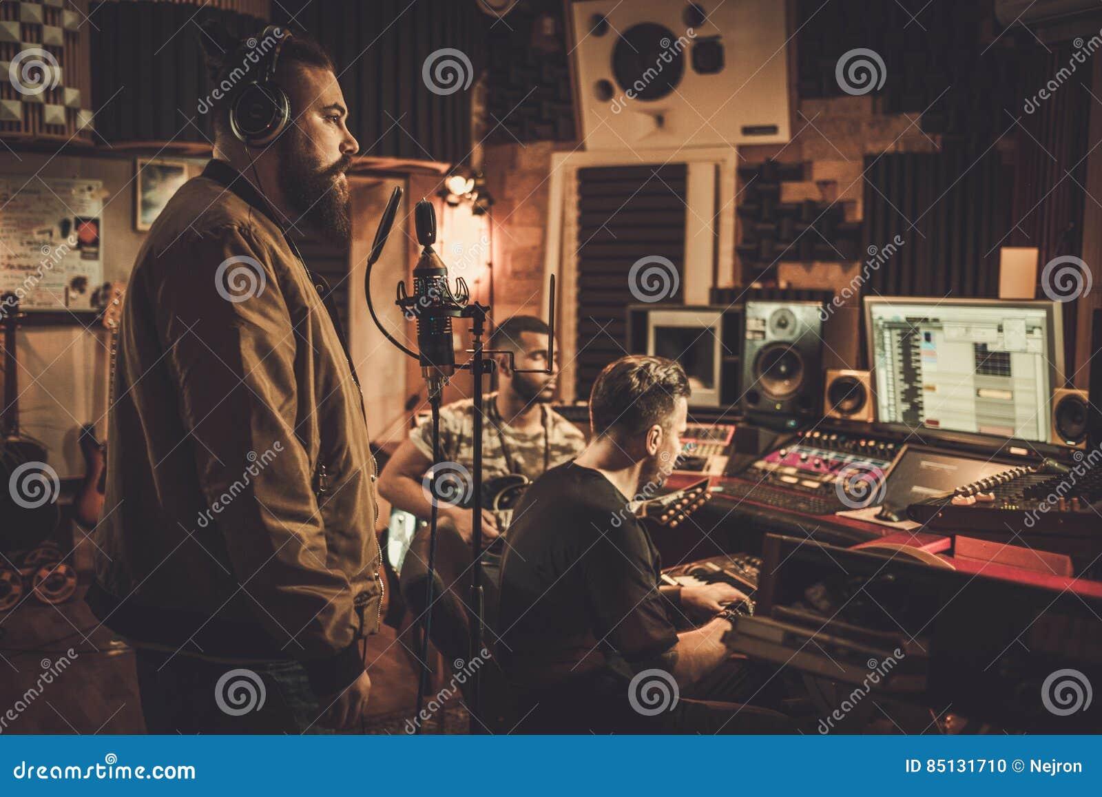 Berufsmusikband-Aufnahmelied in Butikenaufnahme stu