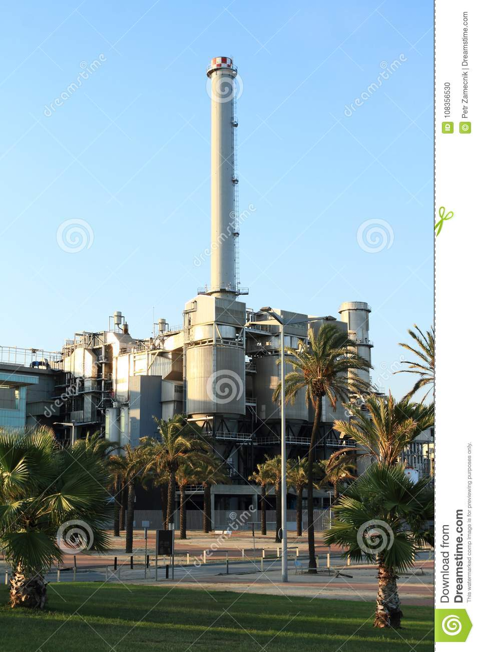 The Besos Combined Cycle Power Plant Stock Photo Image Of Power