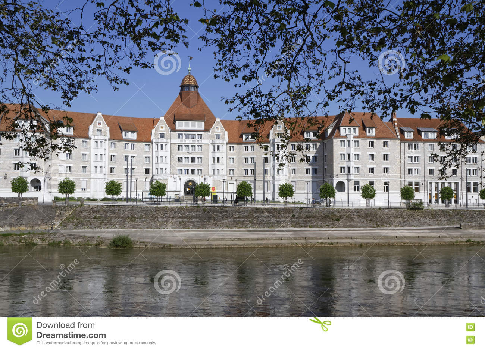 Besancon University editorial stock photo. Image of river - 71757208