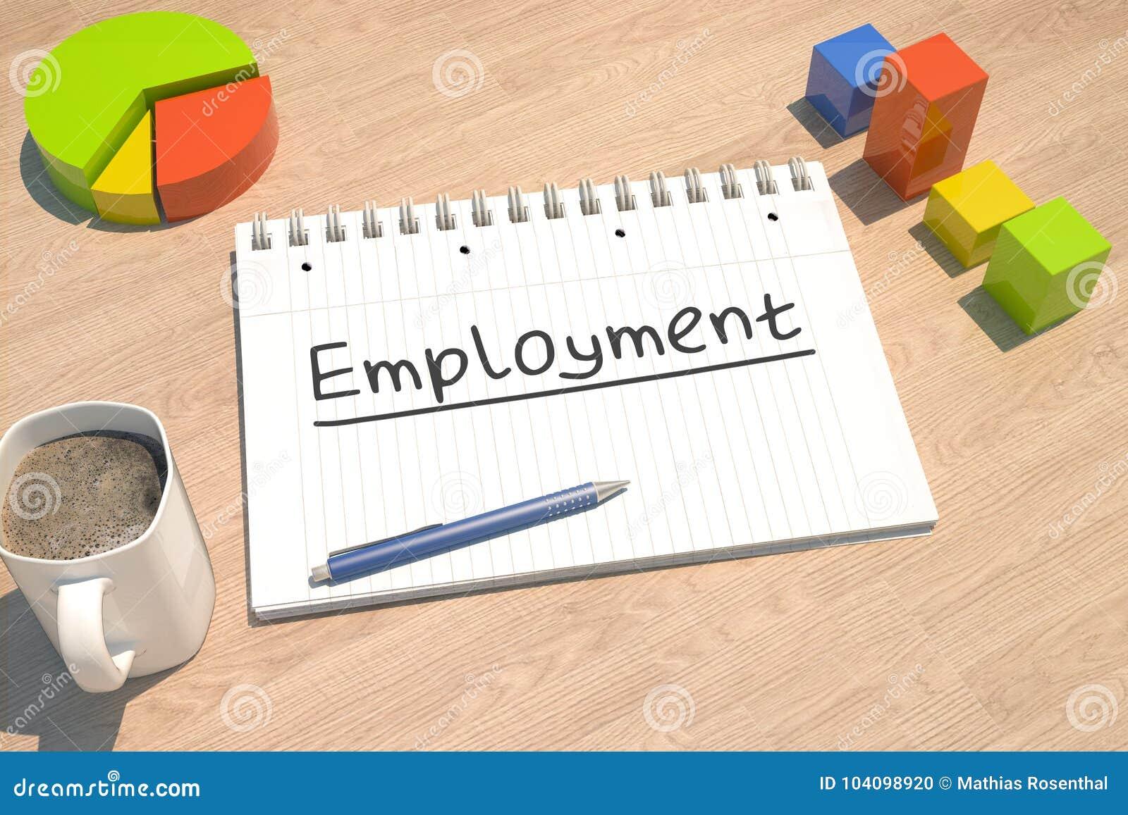 Beschäftigungstextkonzept