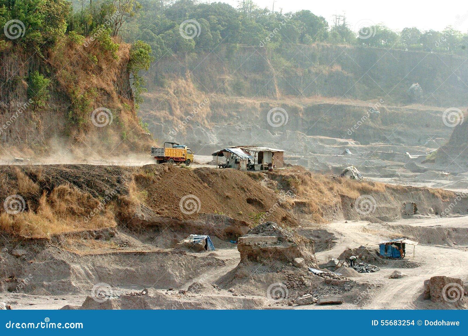 Beschadigde het milieu in Mojokerto, Indonesië