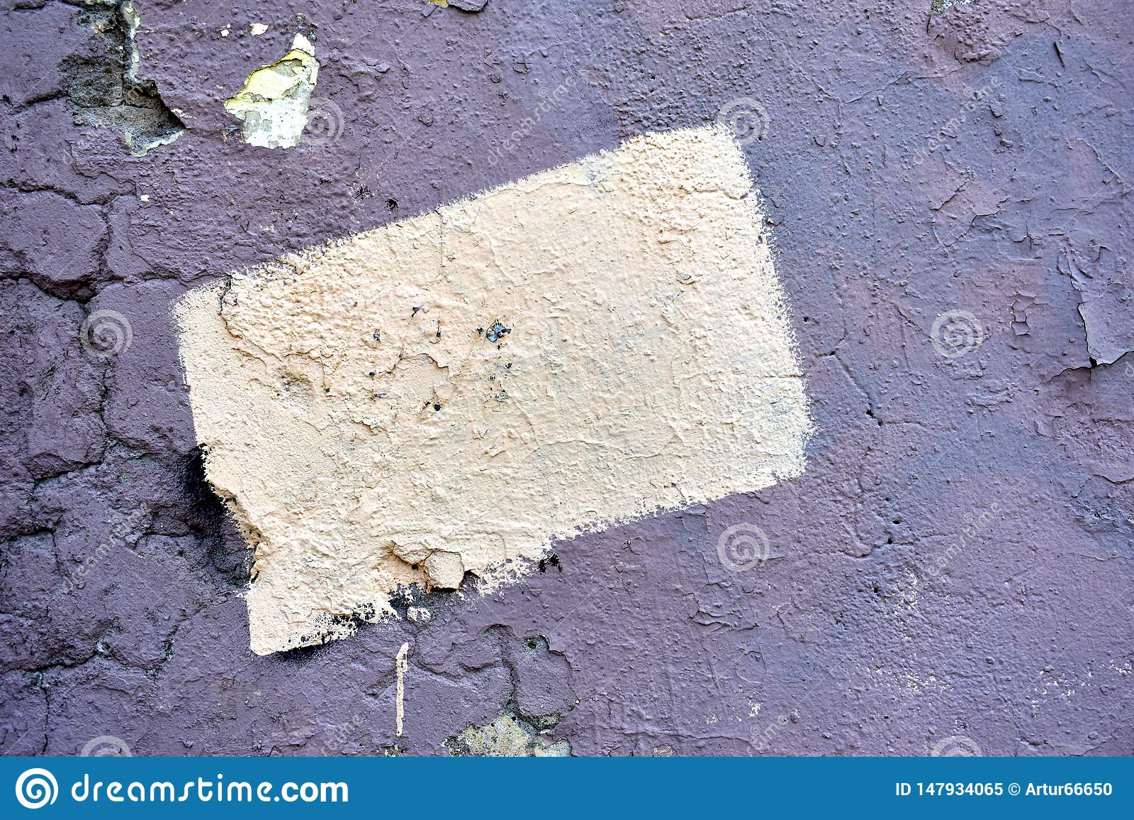 Beschaffenheit der alten gebrochenen Wand