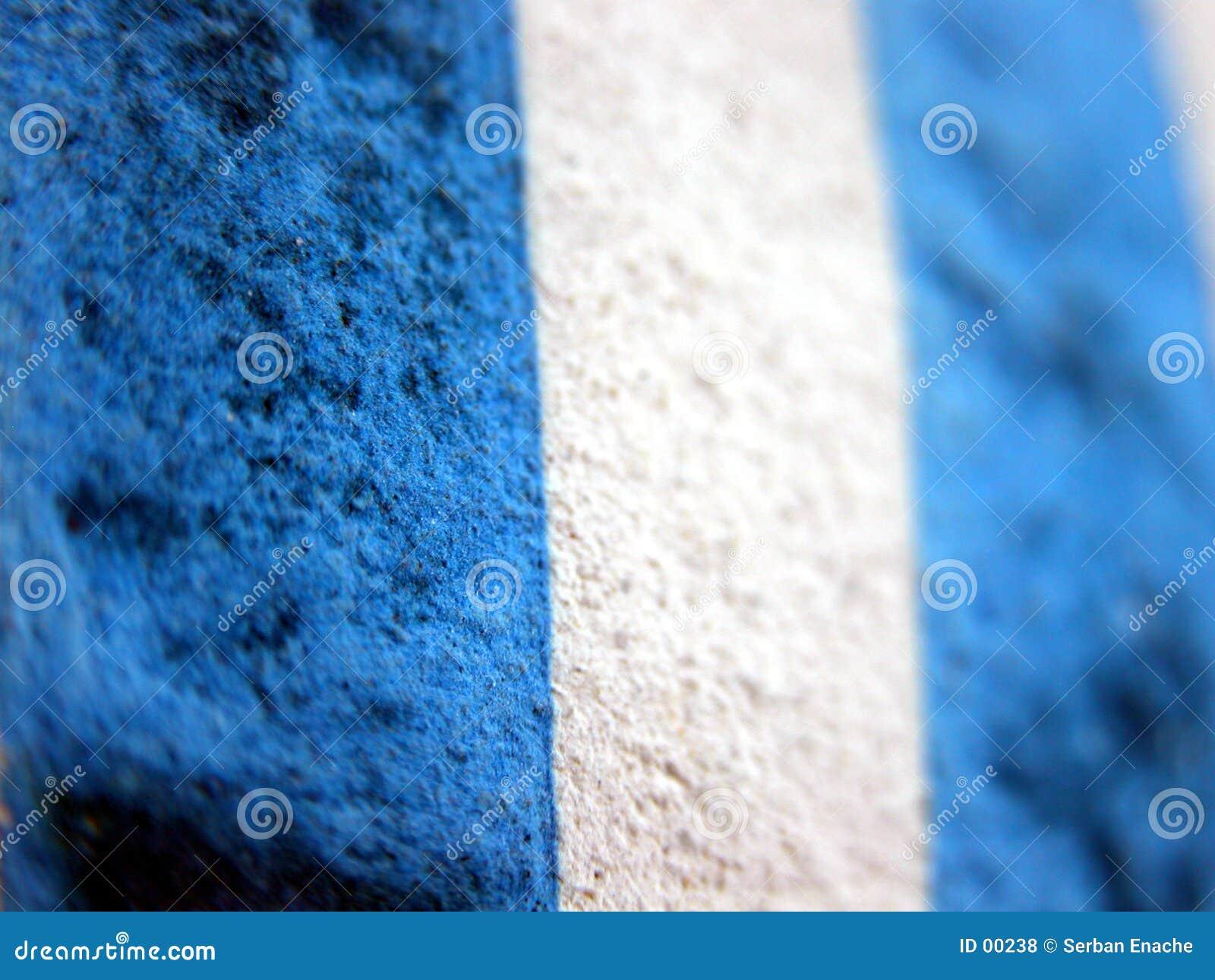 Beschaffenheit der blauen Streifen