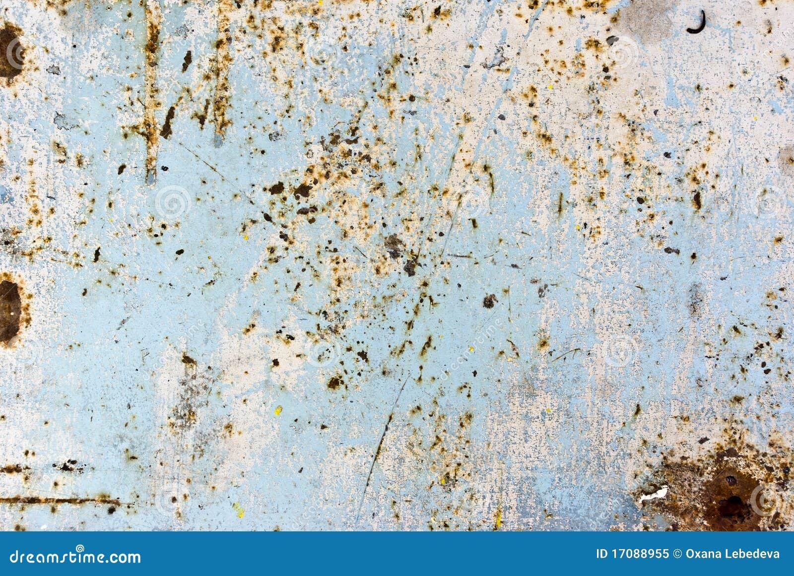 Beschaffenheit des rostigen gemalten Metalls