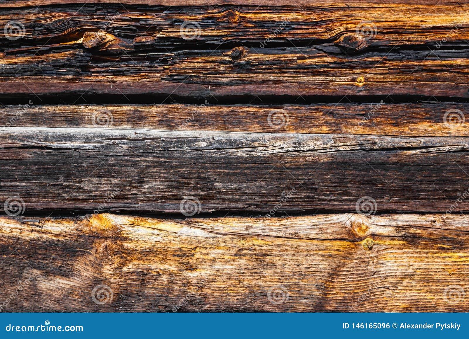 Beschaffenheit von gro?en Klotz eines Holzhauses