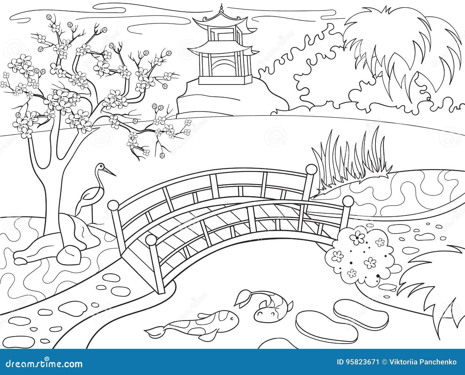 Beschaffenheit Von Japan-Malbuch Für Kinderkarikatur Japanische ...