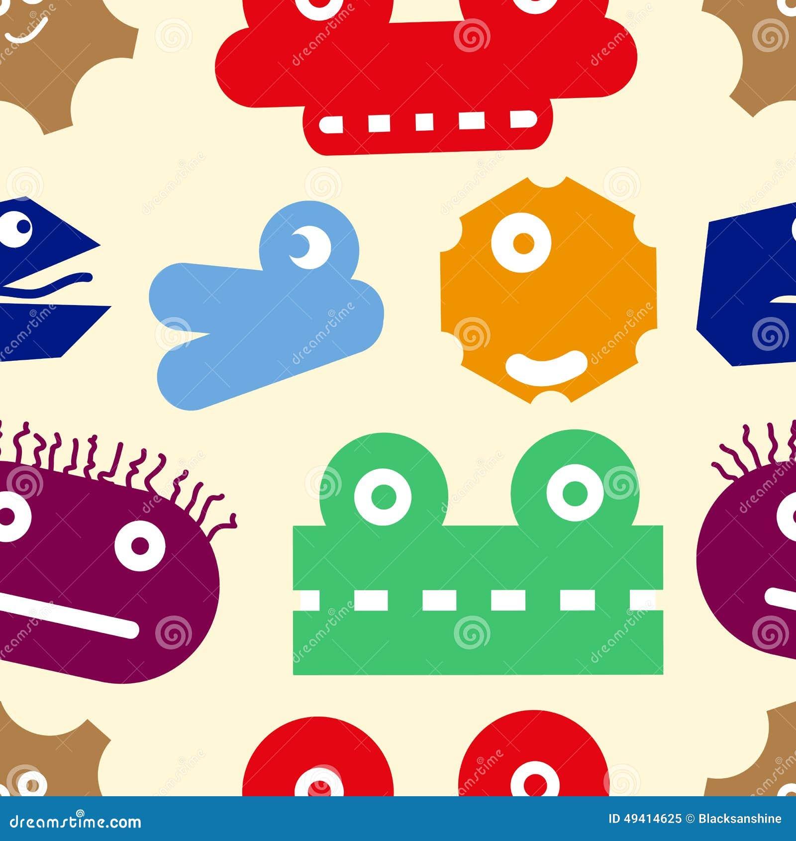 Download Beschaffenheit Von Monstern Vektor Abbildung - Illustration von auslegung, unterhalten: 49414625