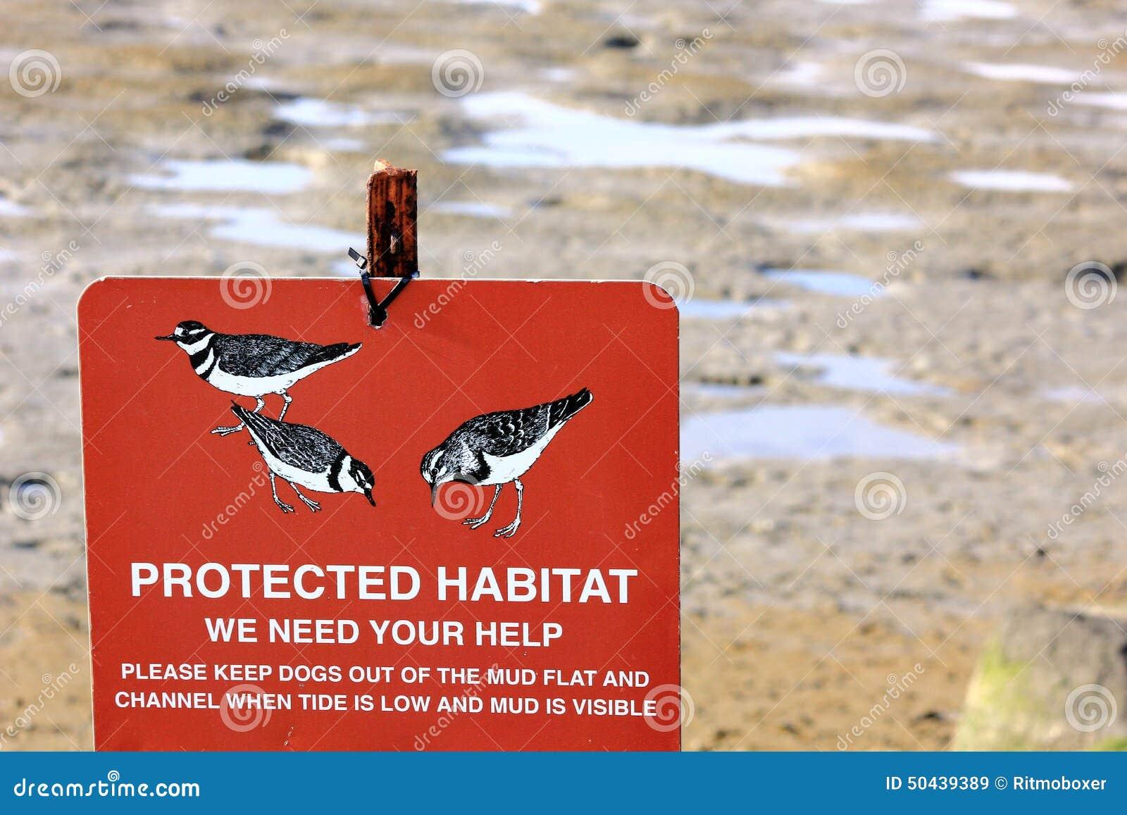 Beschermd Habitatwaarschuwingsbord