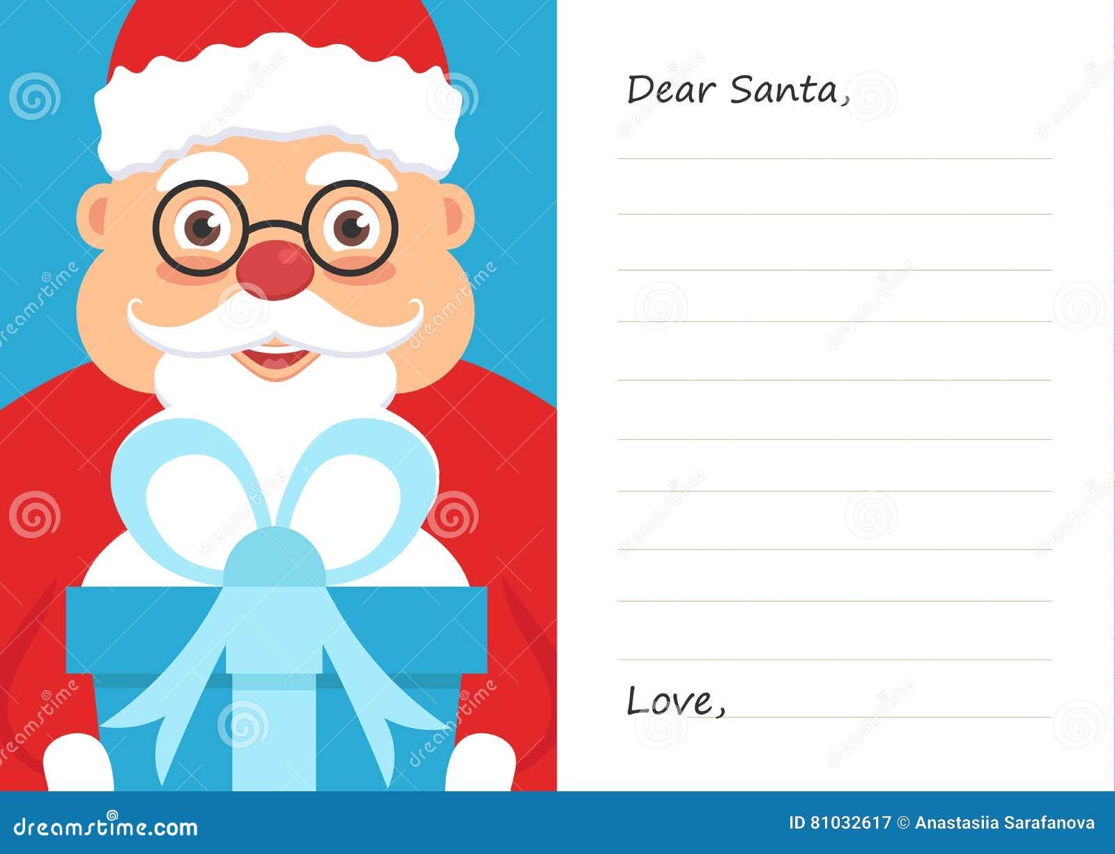 Beschriften Sie Lieben Weihnachtsmann Für Frohe Weihnachten Oder ...