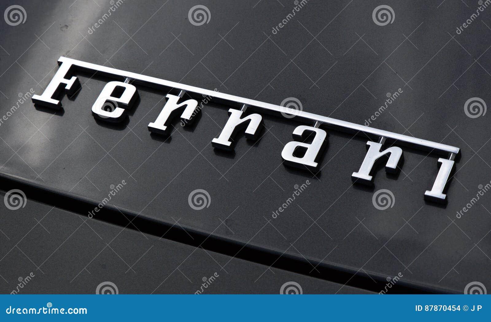 Beschriftet Ferrari Auf Einem Auto In Amsterdam Redaktionelles ...