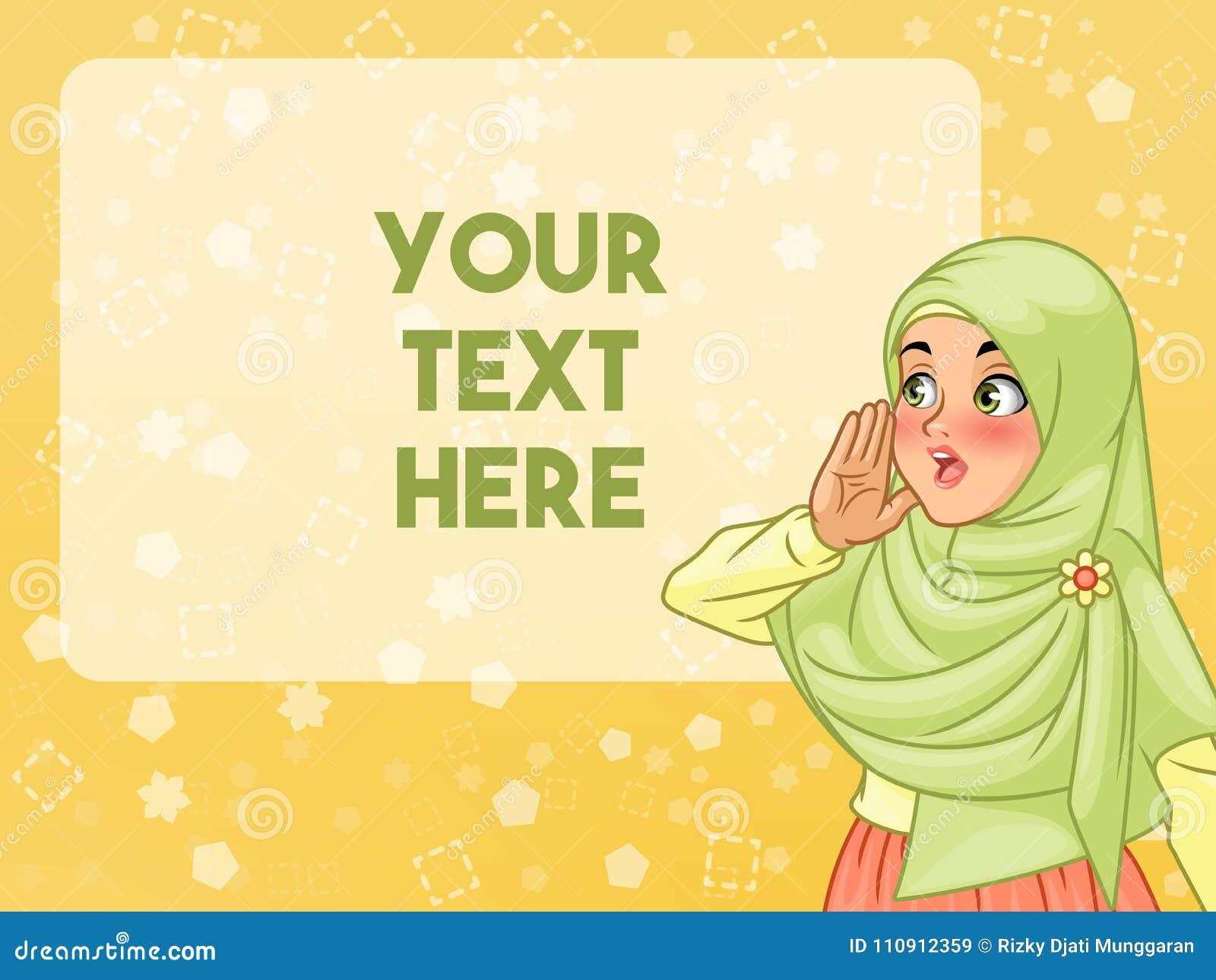 Beslöjat muslimkvinnarop genom att använda henne händer