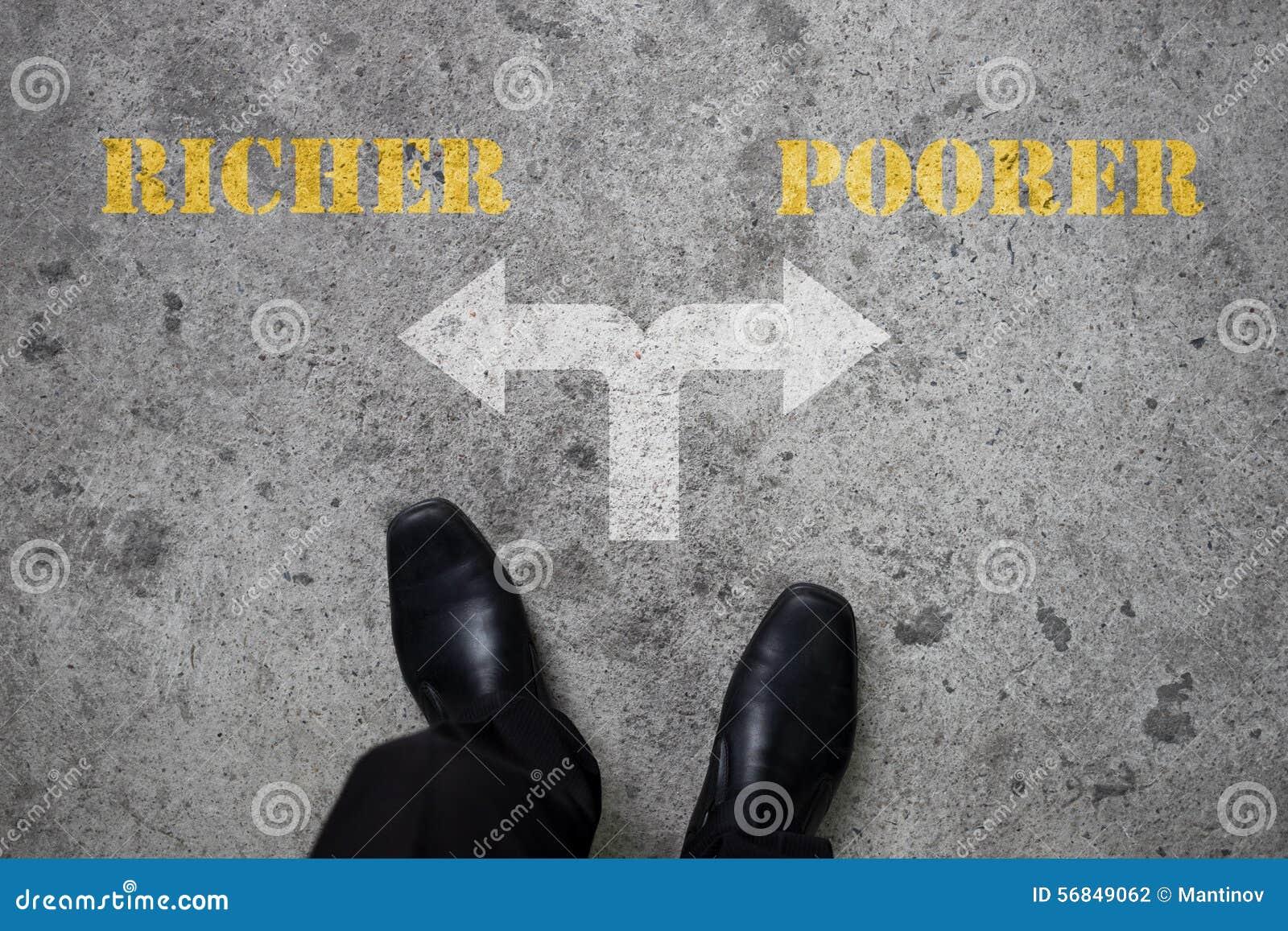 Besluit om bij de dwars rijker of slechtere weg te maken -