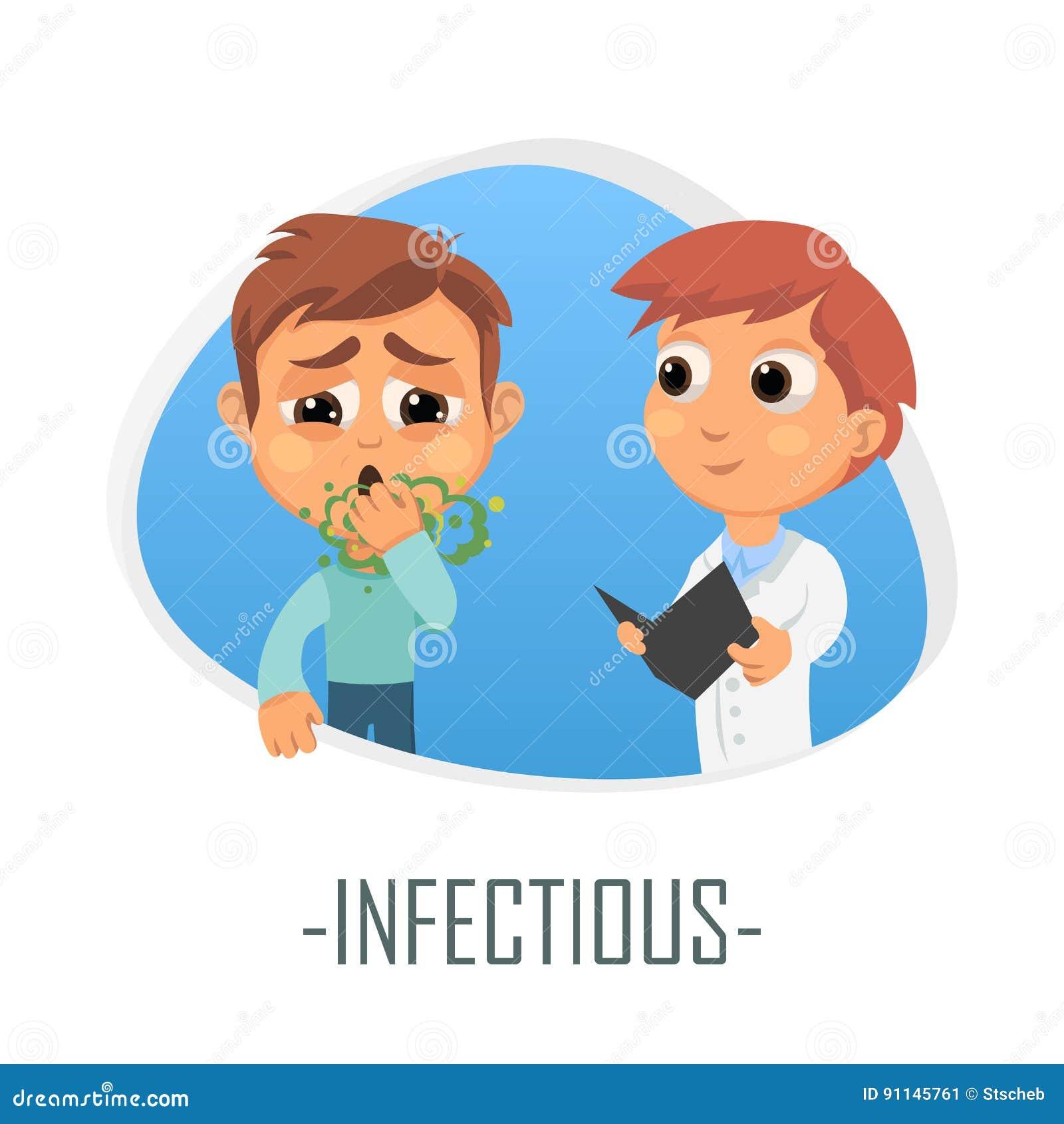 Besmettelijk medisch concept Vector illustratie