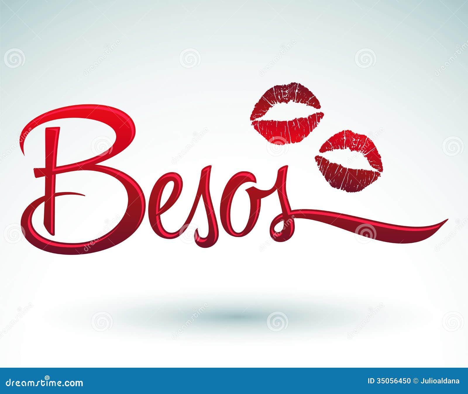 besos -亲吻西班牙人文本
