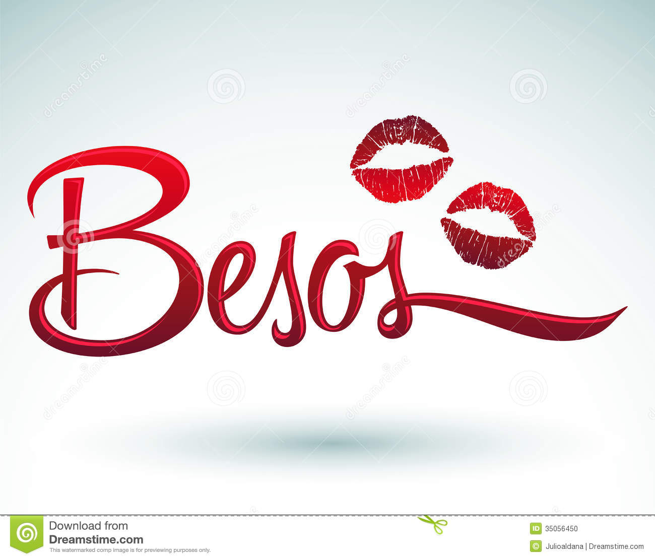 Besos Kisses Spanish Text Stock Photo Image 35056450