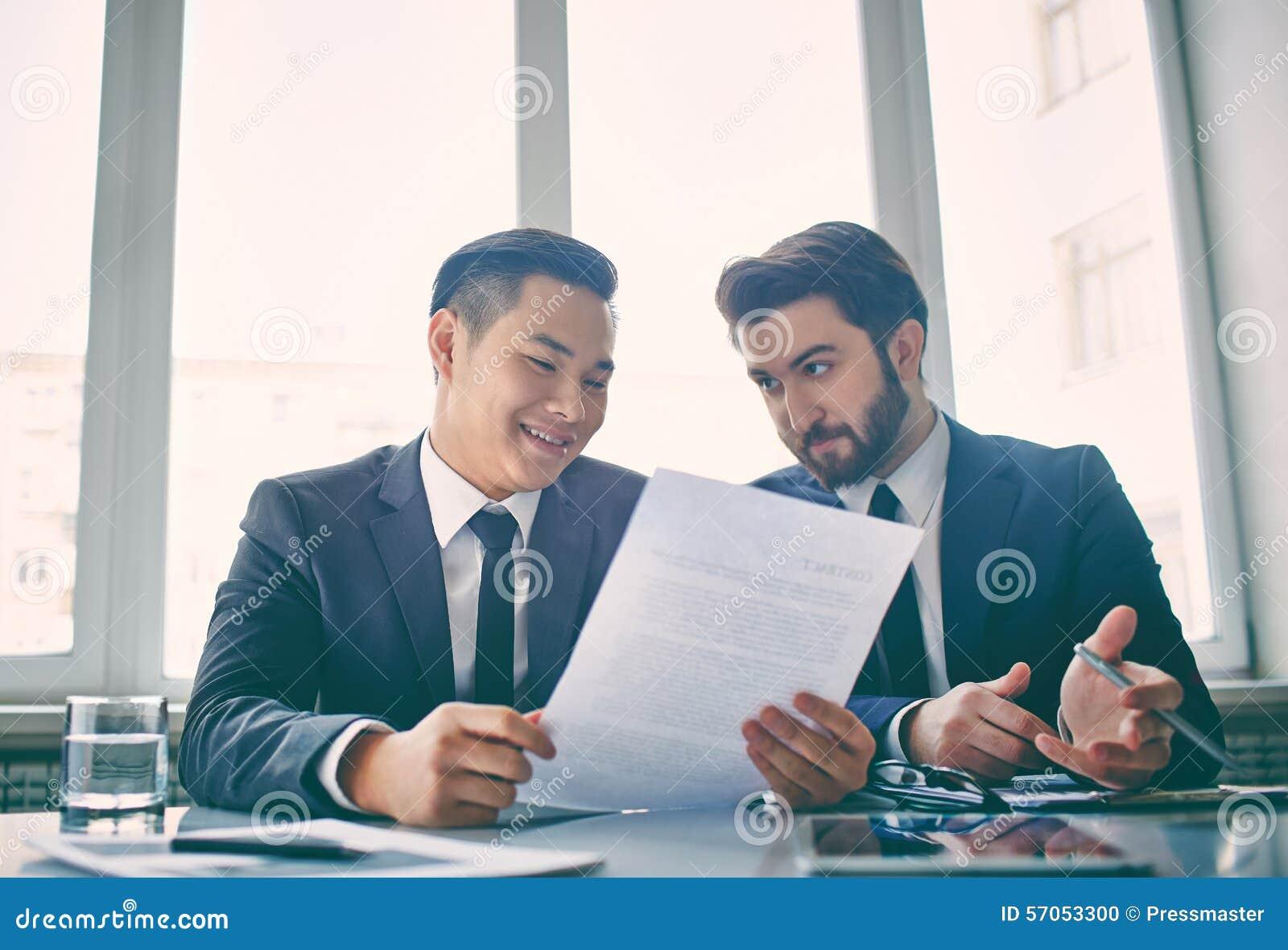 Bespreking van contract