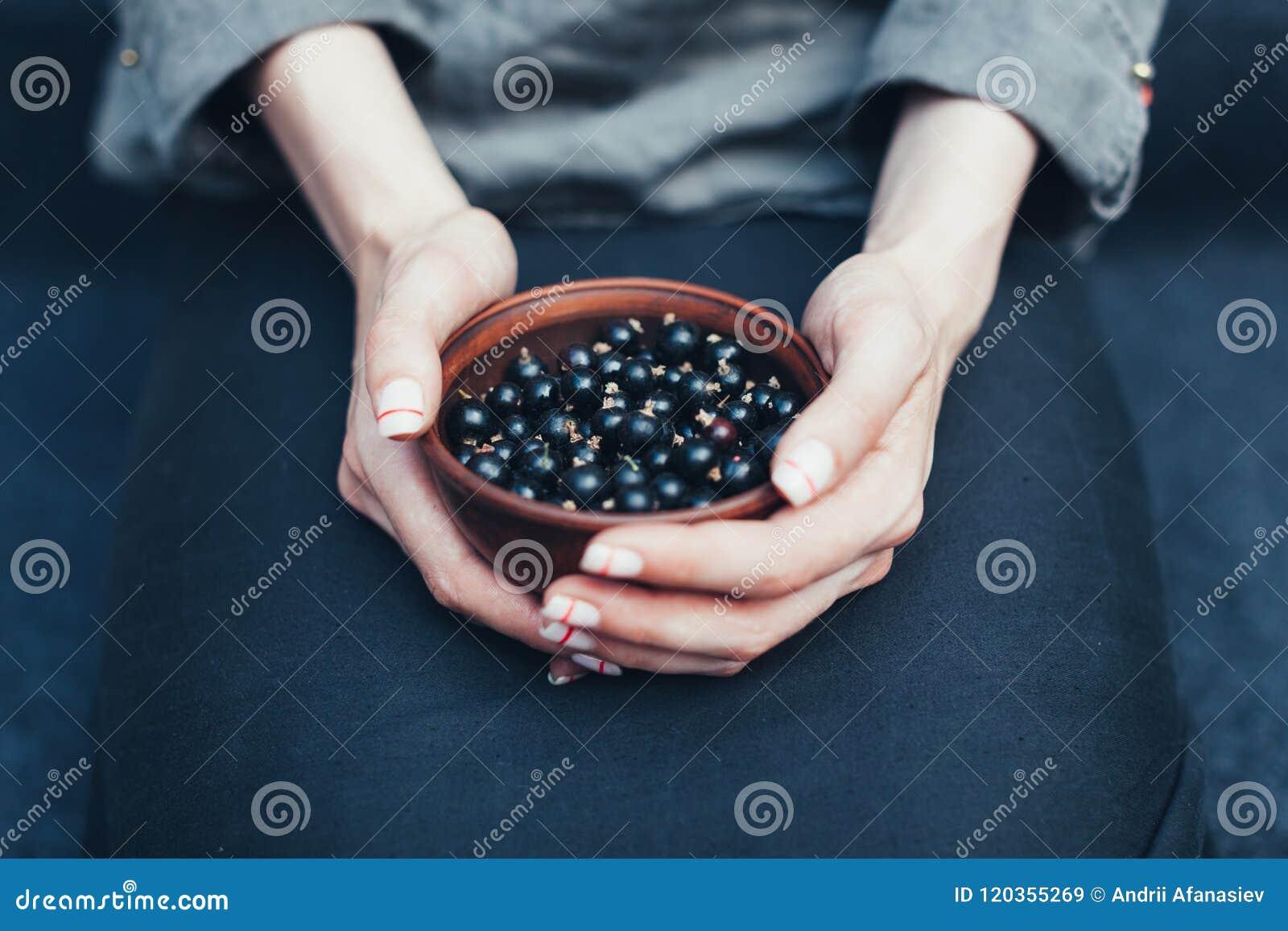 Bessen van zwarte bes in platen