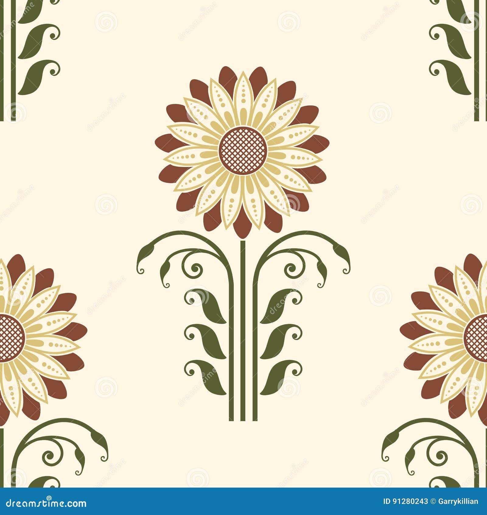 Beståndsdel för modell för vektorblomma sömlös Elegant textur för bakgrunder Klassisk lyxig gammalmodig blom- prydnad