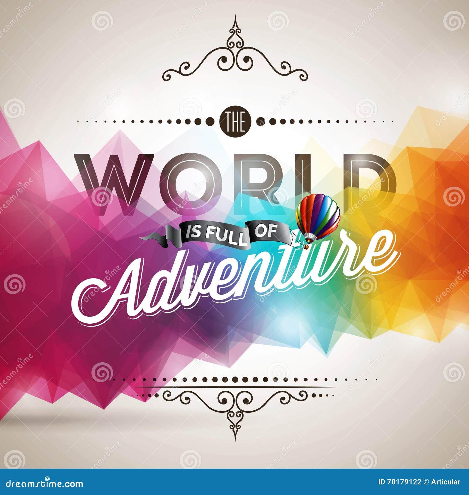 Beståndsdel för vektortypografidesign för hälsningkort och affischer Världen är full av affärsföretaginspirationcitationstecken p