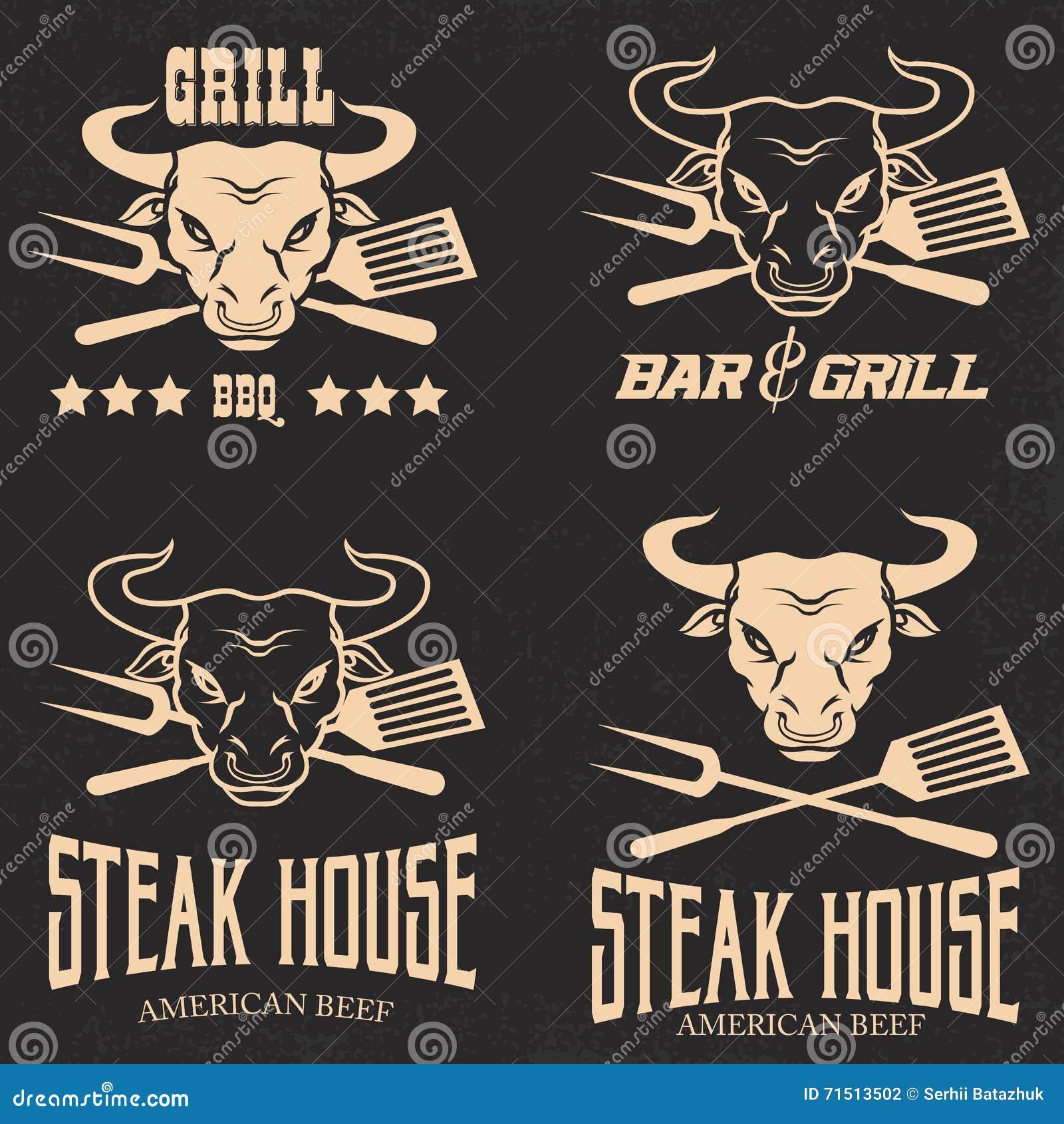 Beståndsdelar för design för stekhusrestaurangmeny