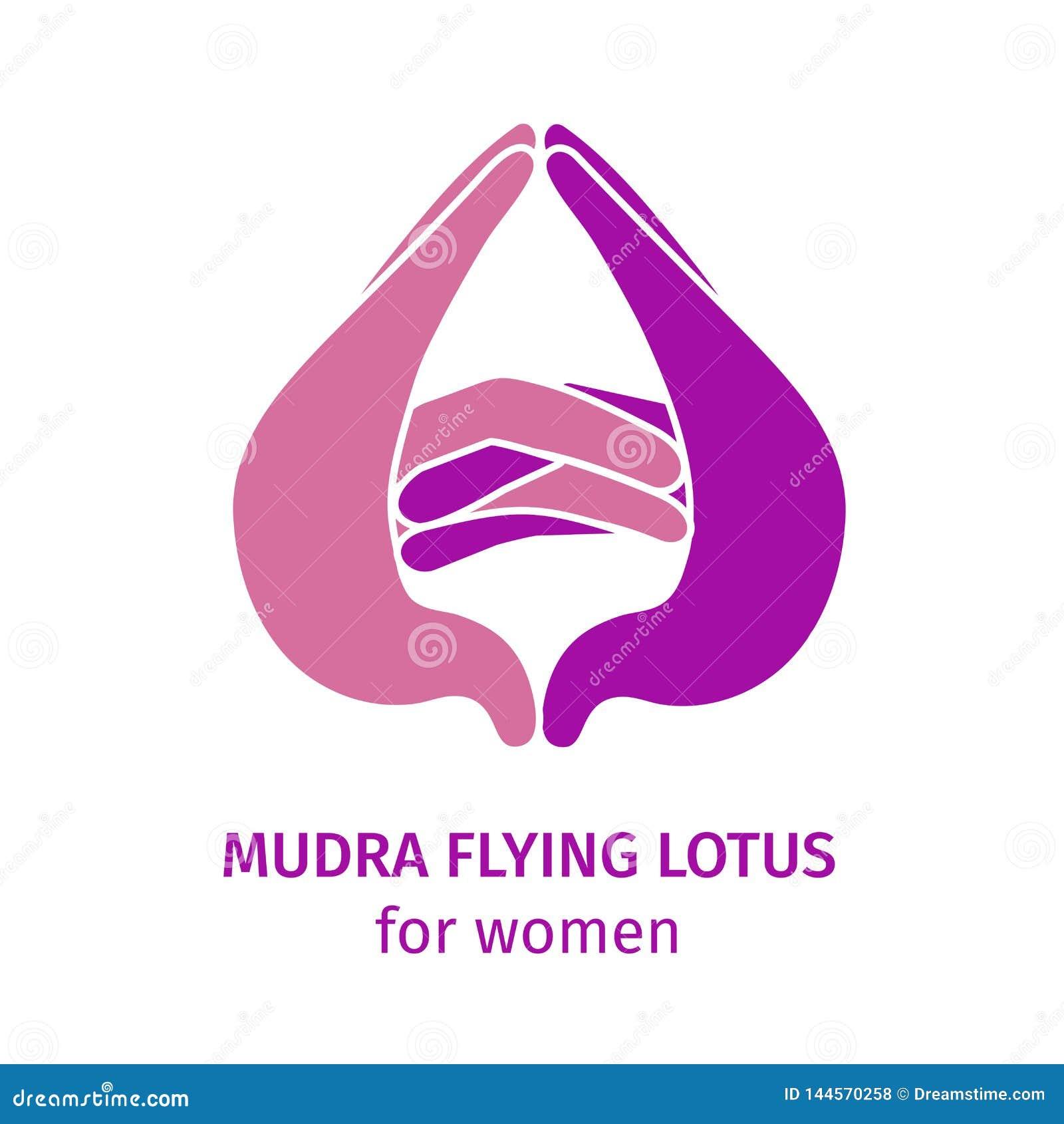 Best?ndsdelyogamudra som flyger lotusblomma ocks? vektor f?r coreldrawillustration