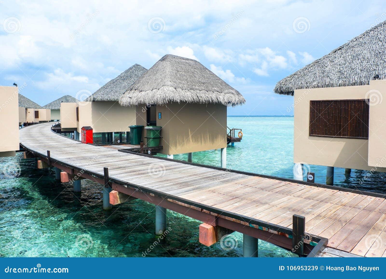 Best All Inclusive Maldives Water Villa Resorts In Maldives Stock