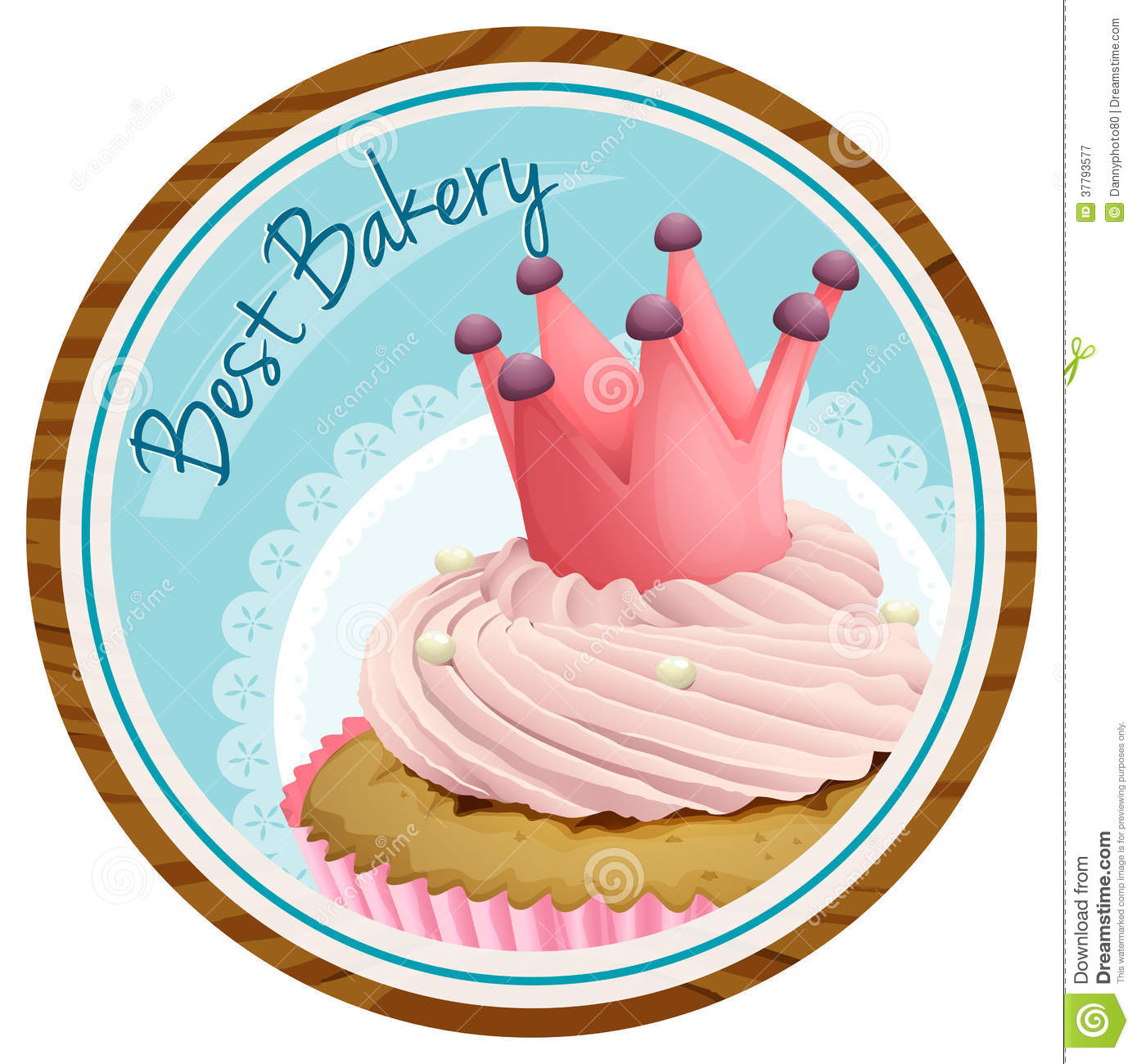 Cool A Best Bakery Label With A Cake Stock Vector Illustration Of Funny Birthday Cards Online Bapapcheapnameinfo